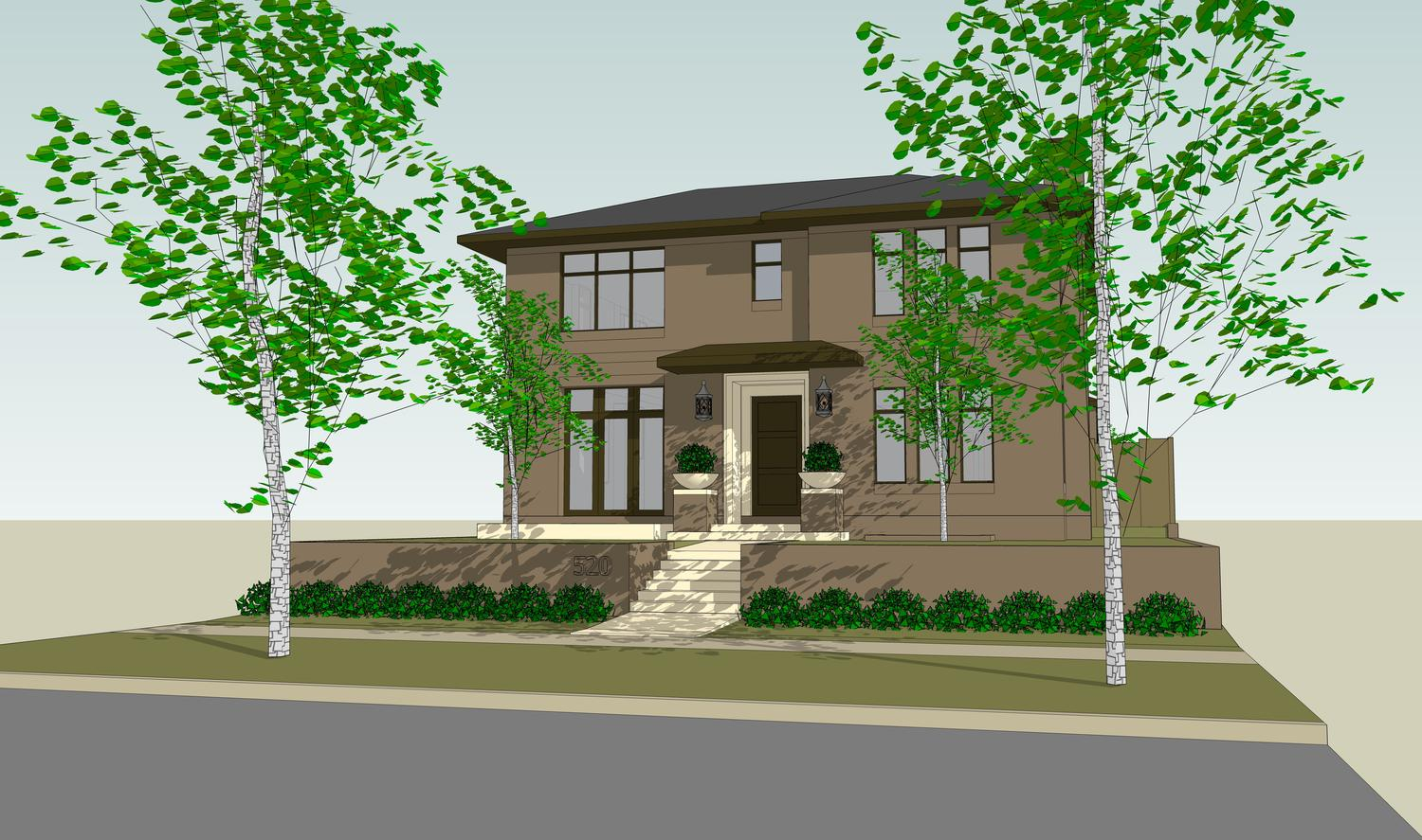 sales property at Sophisticated, new 2-story brick luxury residence in the heart of Cherry Creek