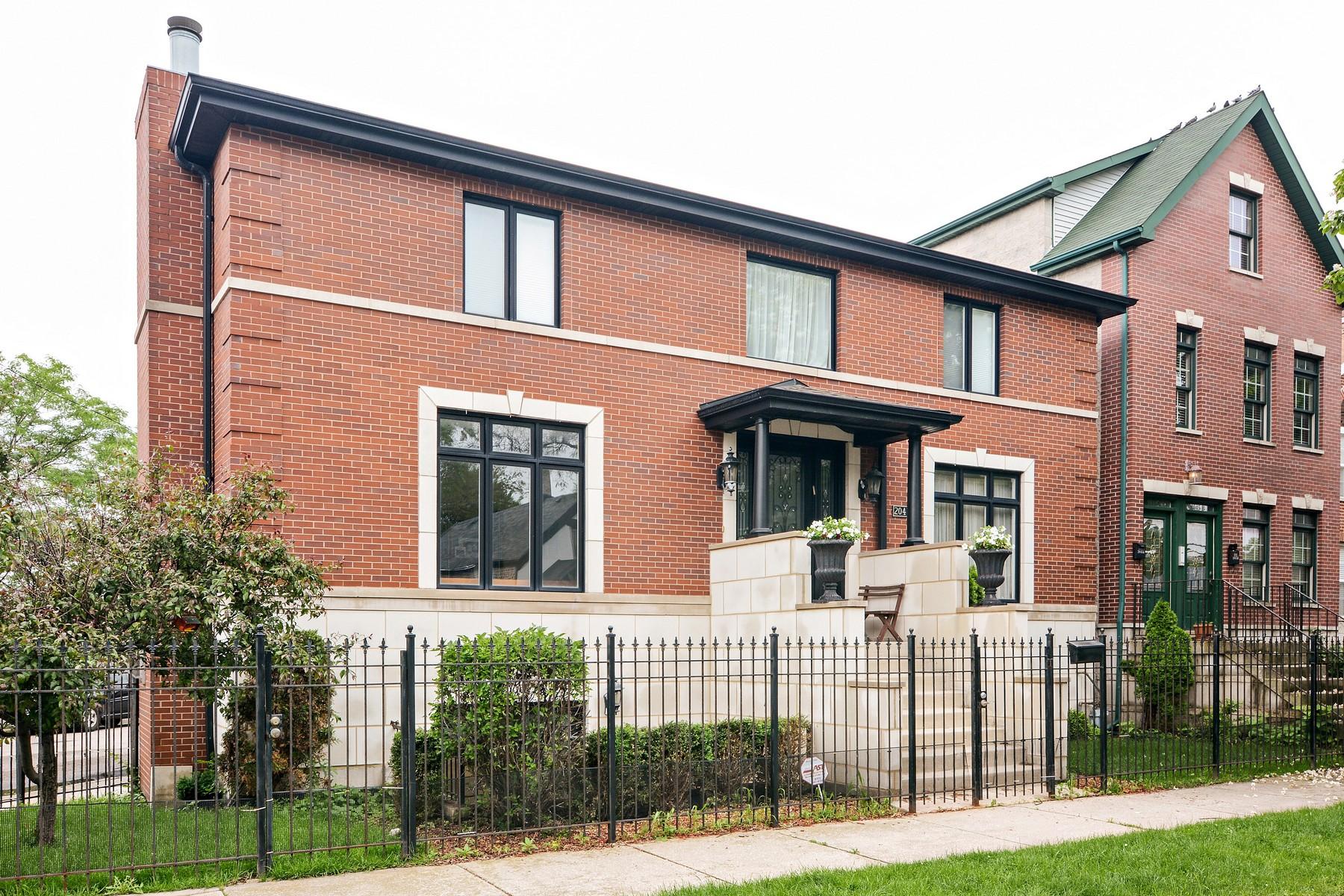 一戸建て のために 売買 アット Contemporary Brick Home in Amazing Bucktown Location 2047 N Honore Street Logan Square, Chicago, イリノイ 60614 アメリカ合衆国