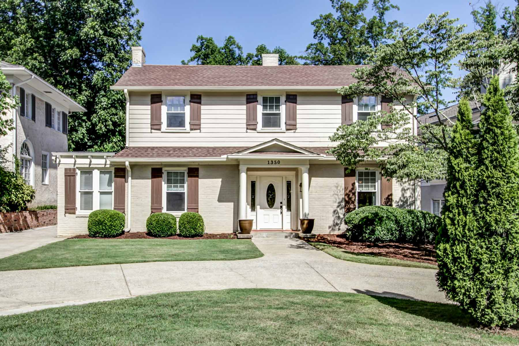 Single Family Home for Sale at Inviting 1925 Druid Hills Traditional 1350 Briarcliff Road Druid Hills, Atlanta, Georgia, 30306 United States