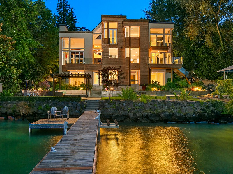 Single Family Home for Rent at Perfectly Executed Luxury Modern Estate 9950 SE 35th Place Mercer Island, Washington 98040 United States