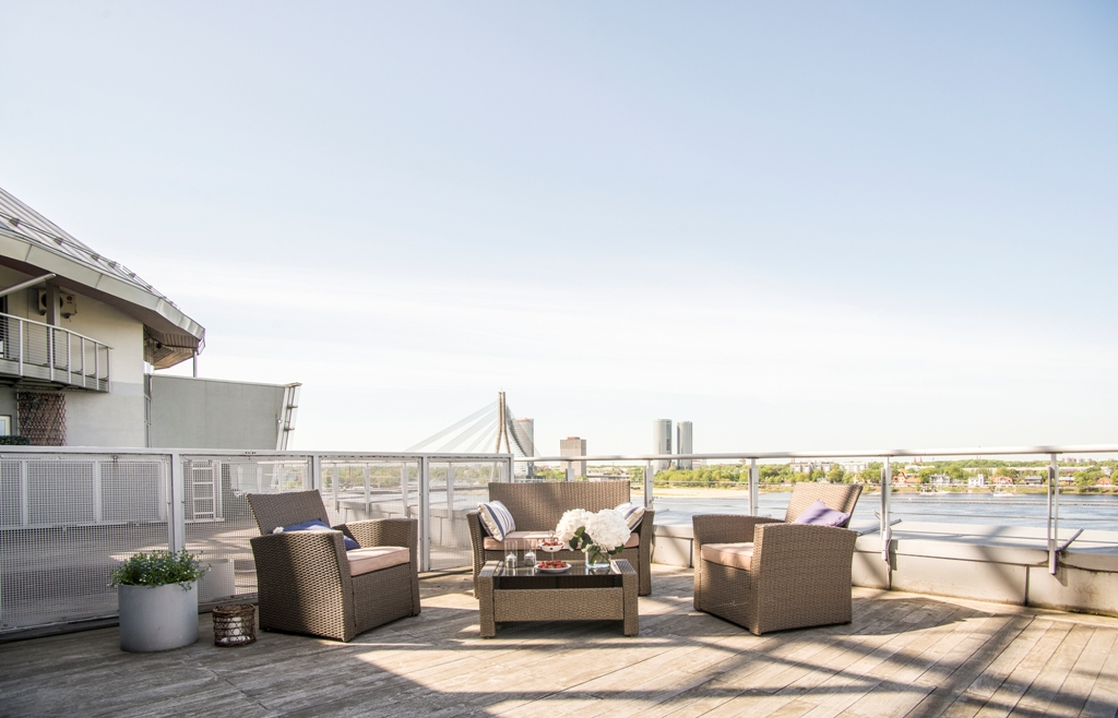 sales property at Two level penthouse with the Daugava River view