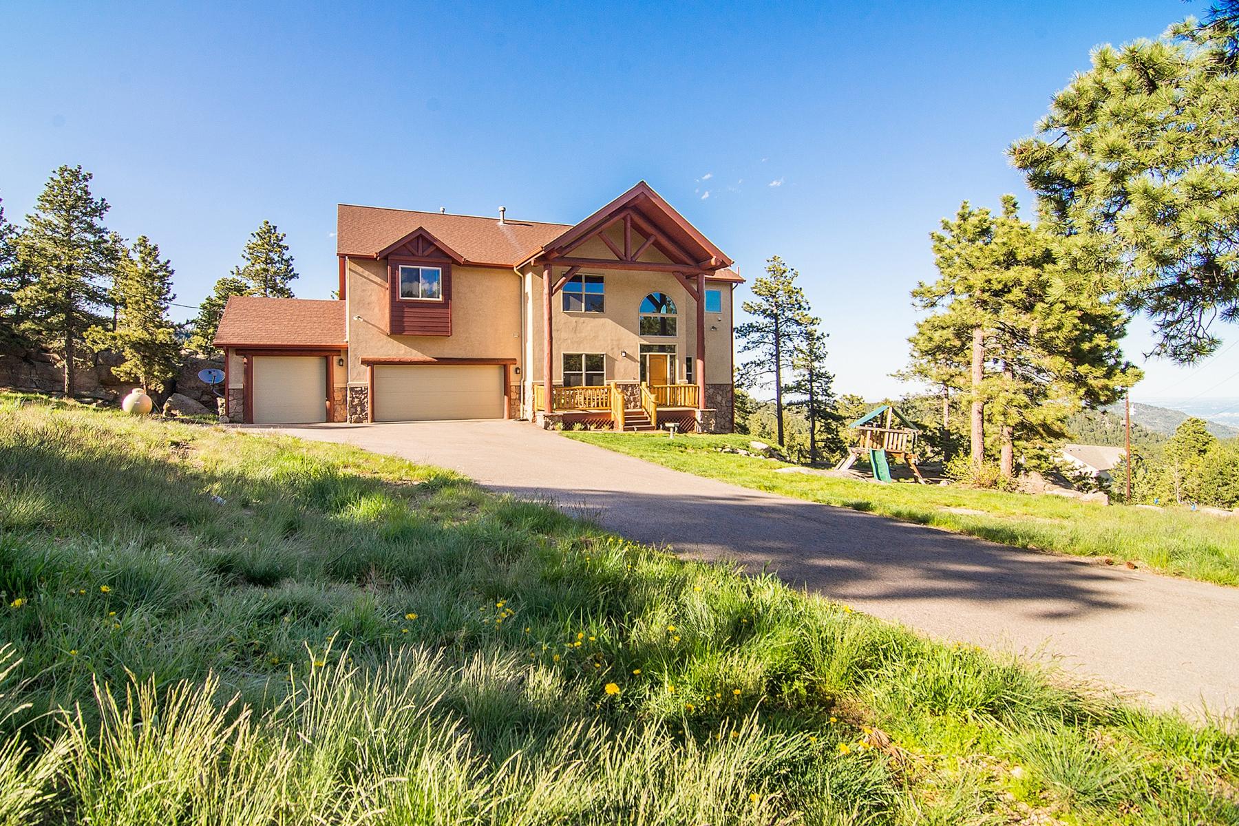 Maison unifamiliale pour l Vente à Exquisite Custom Home 5891 Northwood Drive Evergreen, Colorado 80439 États-Unis