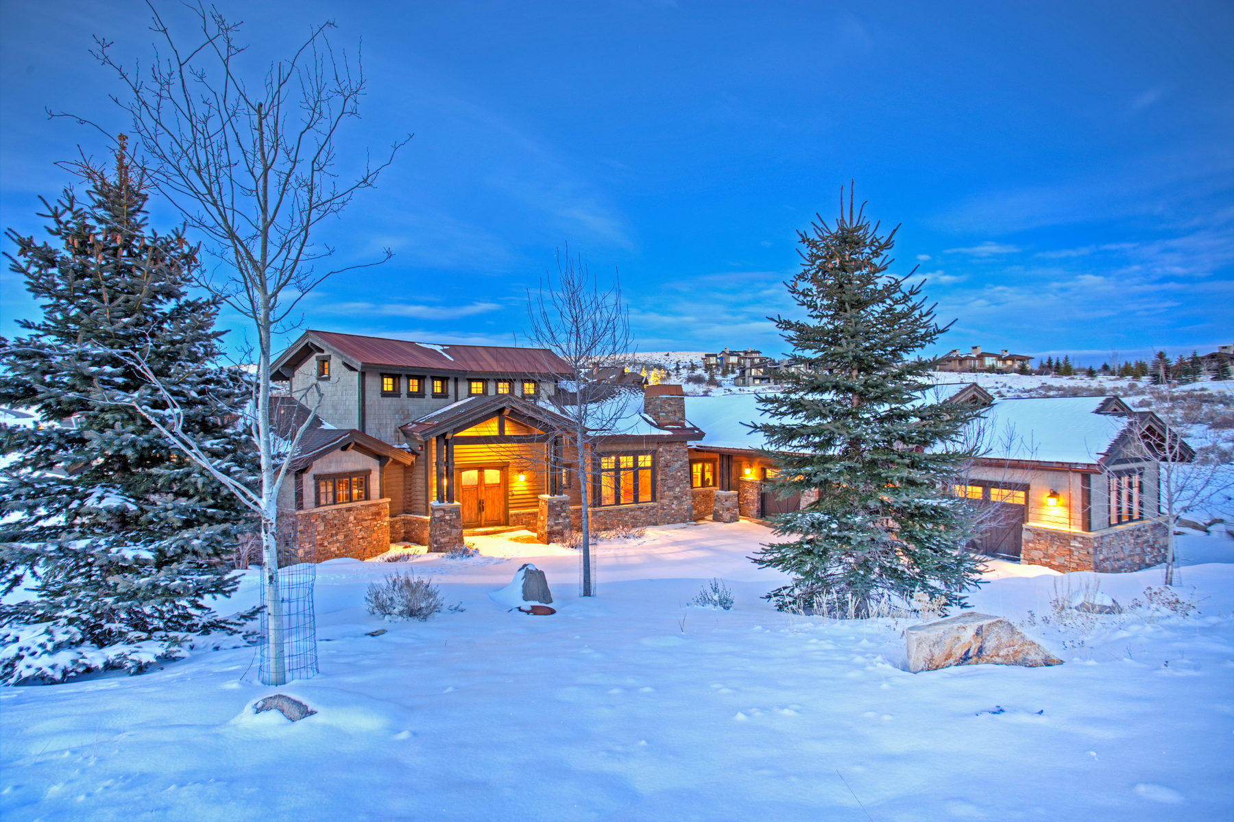 Single Family Home for Sale at Spectacular Promontory Home Overlooking the 14th Hole of the Pete Dye Golf Cours 3058 E Wapiti Canyon Rd Park City, Utah, 84098 United States