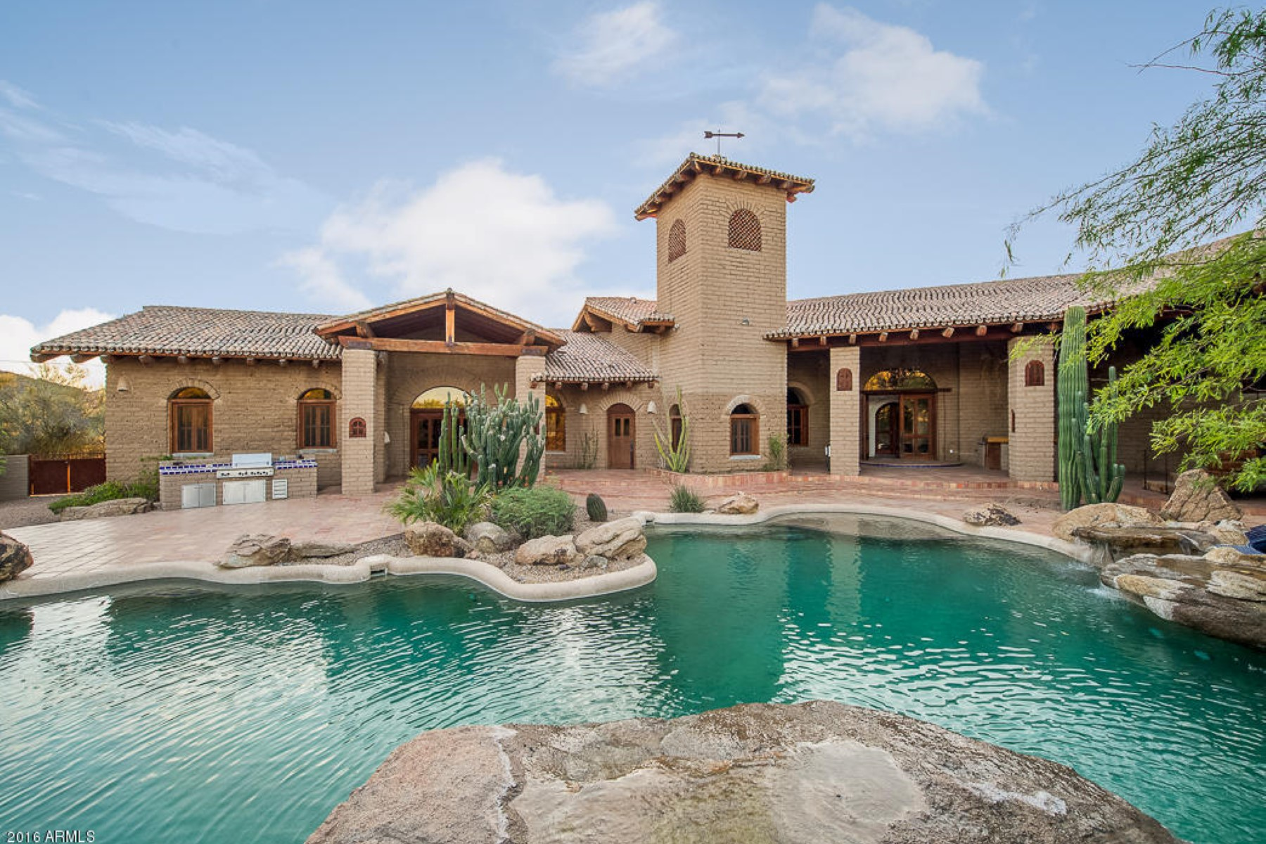 Single Family Home for Sale at Amazing Adobe Estate boasting 4.6 acres of absolute glory 39823 N 56th Street Cave Creek, Arizona, 85331 United States