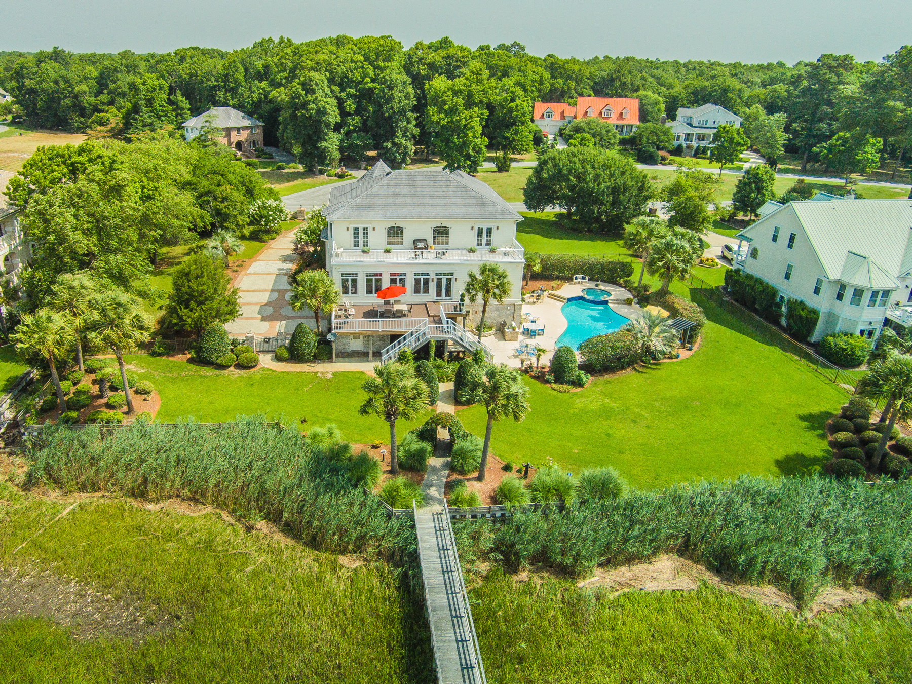 Single Family Home for Sale at Luxurious Waterfront Haven 2769 Pinecrest Drive Southport, North Carolina 28461 United States