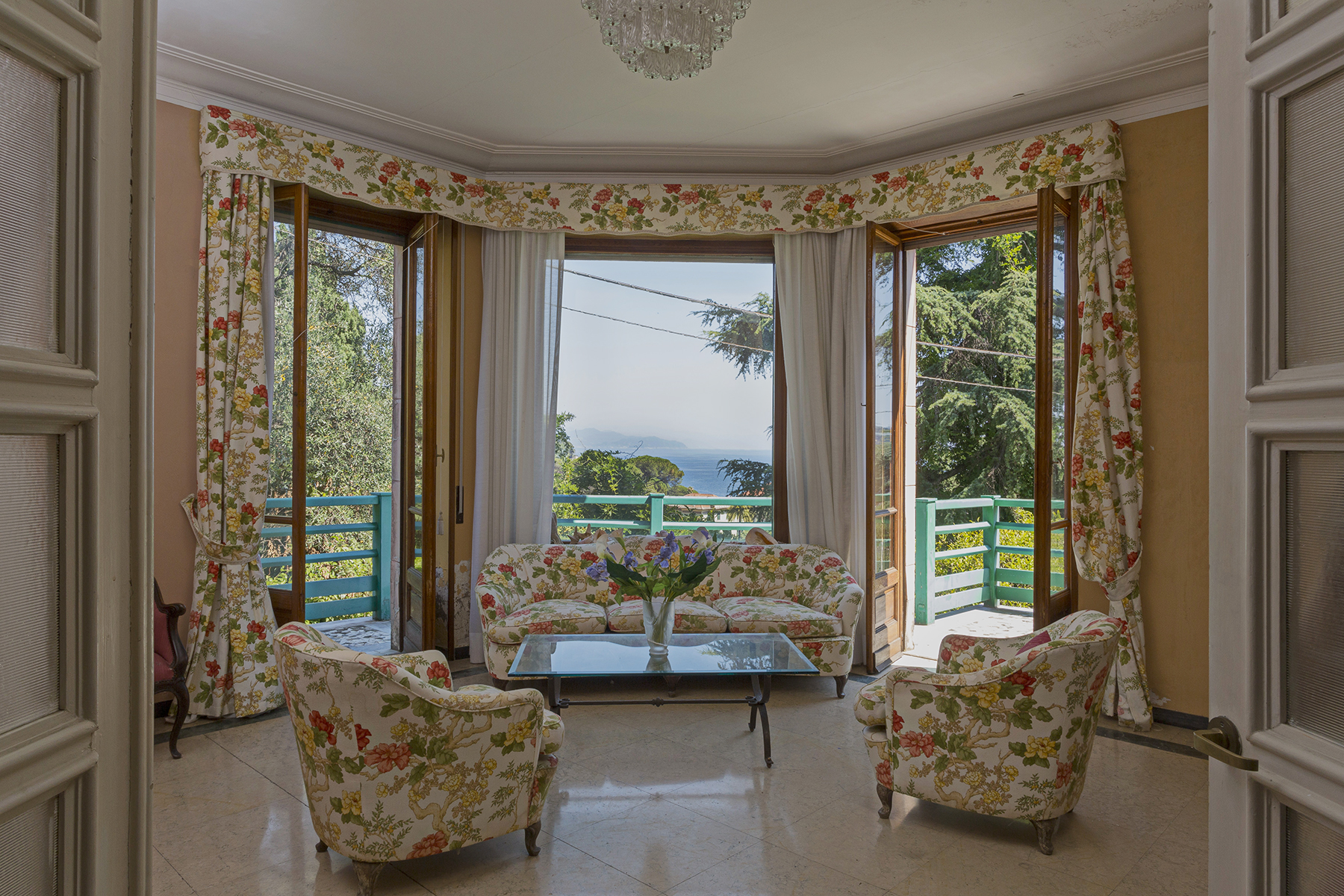 Einfamilienhaus für Verkauf beim Exquisite villa with private garden and amazing sea view Santa Margherita Ligure, Genoa Italien