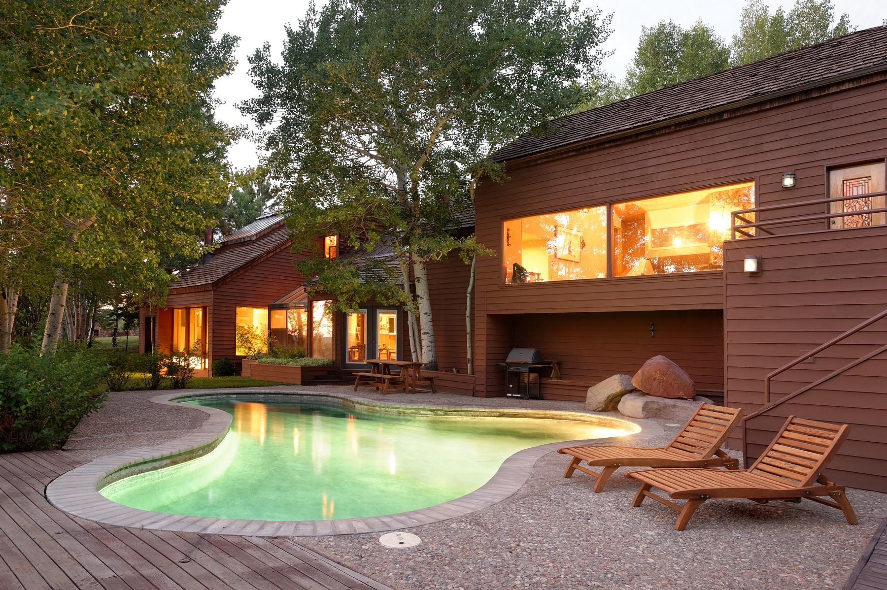 Casa para uma família para Venda às ROCKY MOUNTAIN HIGH 570 JOHNSON DRIVE Aspen, Colorado 81611 Estados Unidos