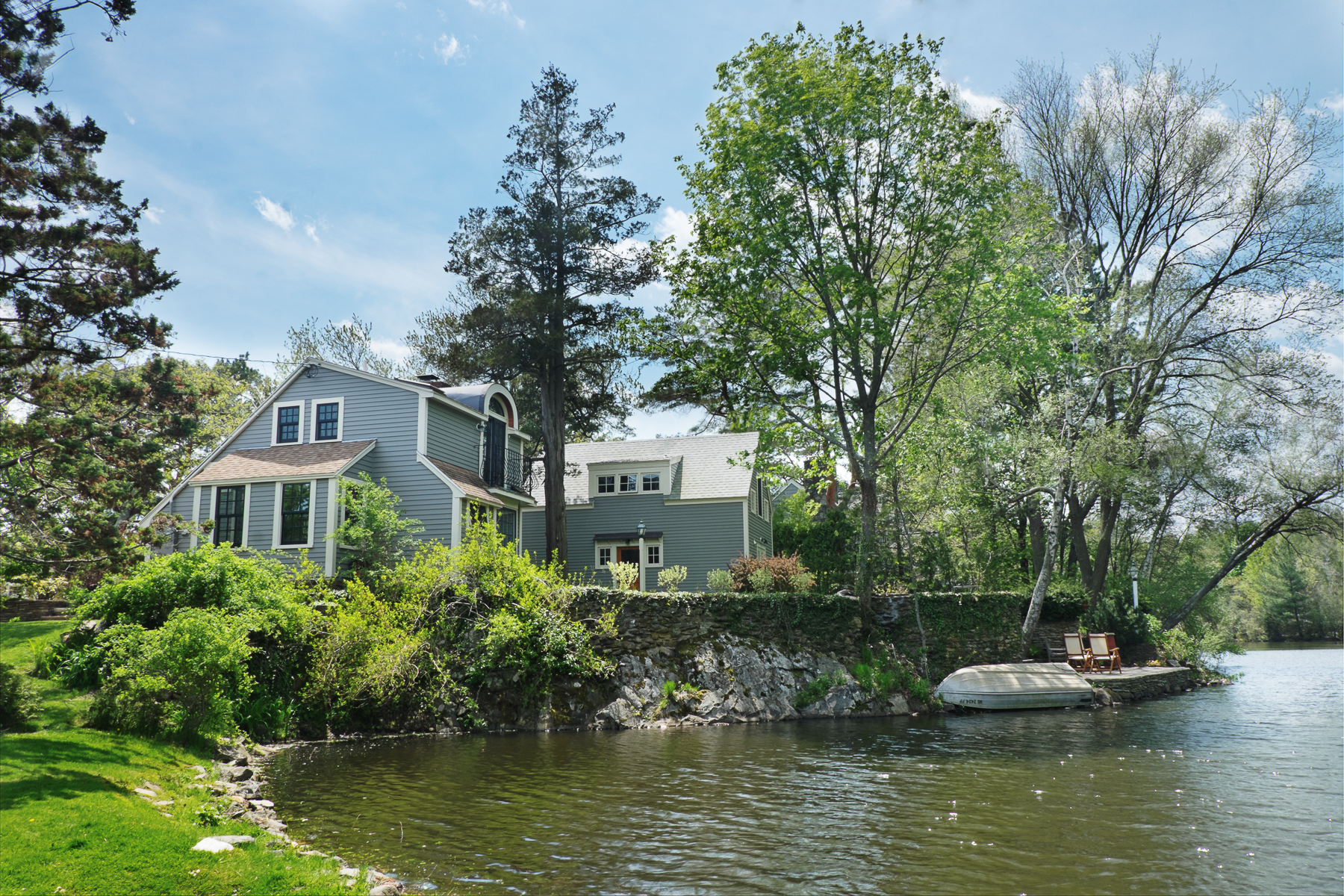 Single Family Home for Sale at Idyllic Retreat on the Pond 27 Gingerbread Hill Marblehead, Massachusetts 01945 United States