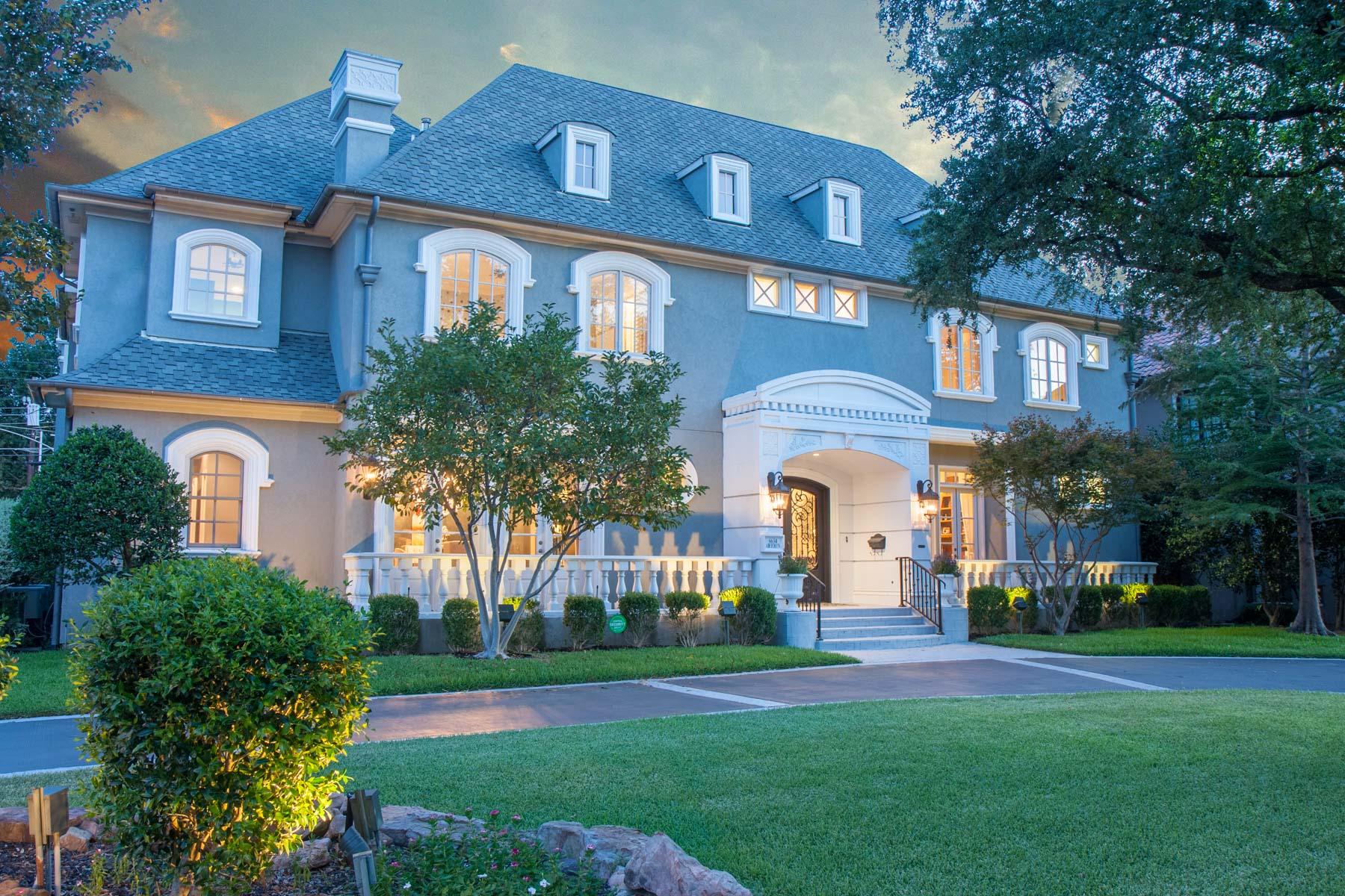 Tek Ailelik Ev için Satış at Spectacular Home in the Heart of Preston Hollow 6634 Aberdeen Avenue Dallas, Teksas, 75230 Amerika Birleşik Devletleri