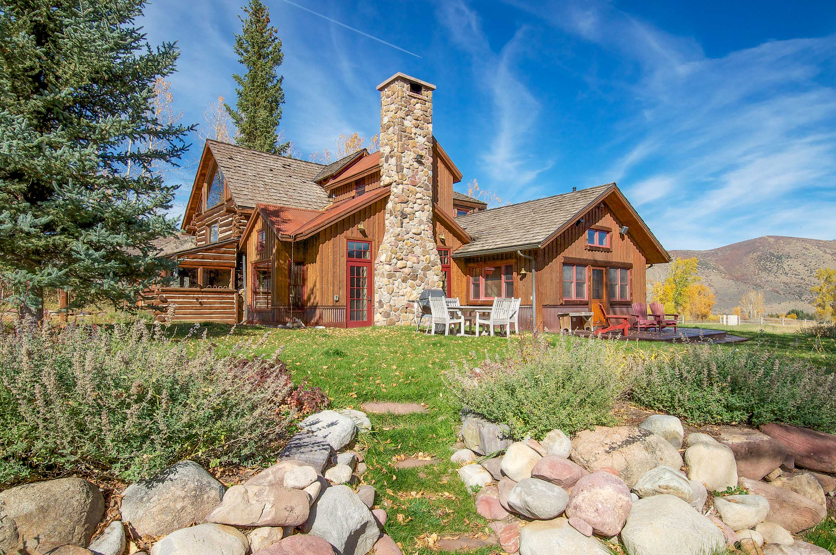 Casa para uma família para Venda às Rocky Mountain Ranch on the River 1150 Capitol Creek Road Snowmass, Colorado, 81654 Estados Unidos