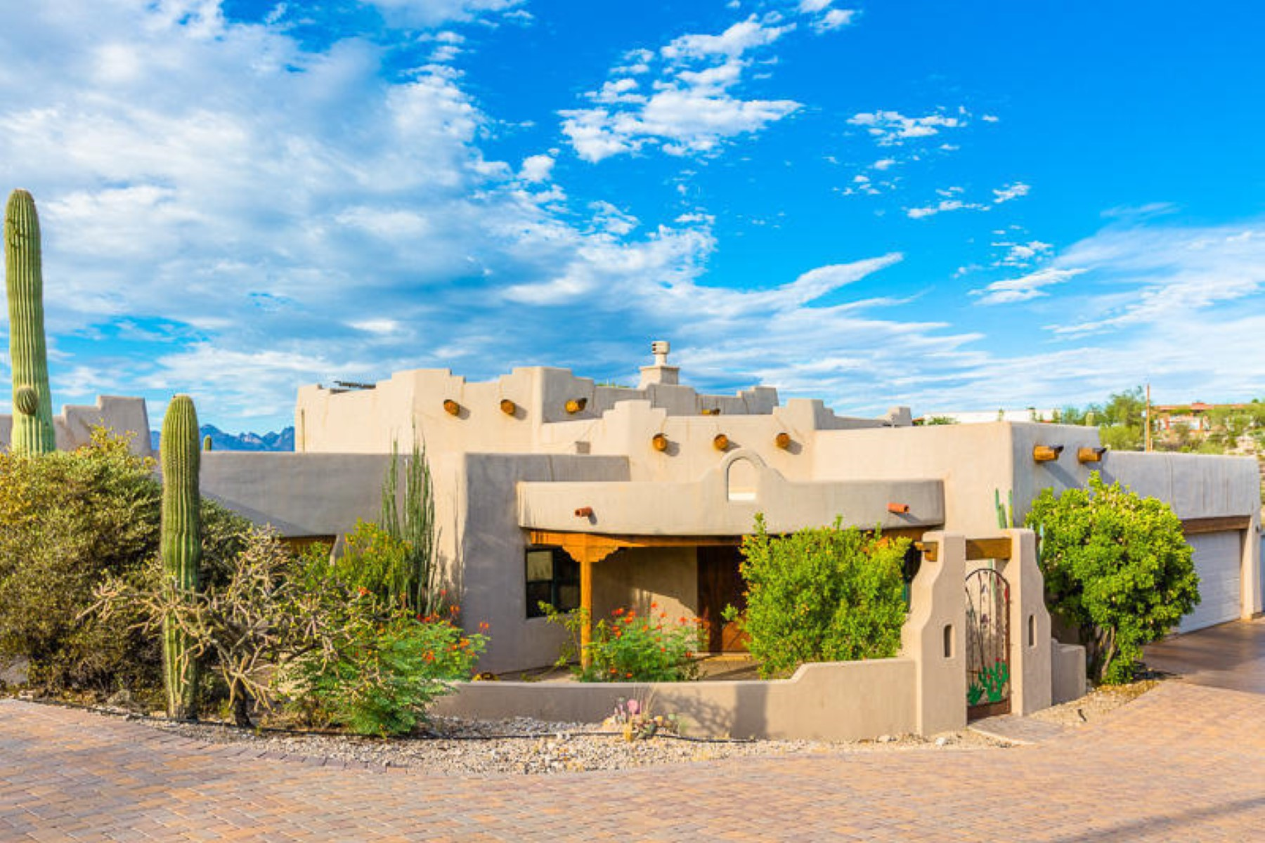 Single Family Home for Sale at Spectacular custom Sante Fe home on a 1.5 acre lot. 1532 N Coral Bells Drive Tucson, Arizona 85745 United States