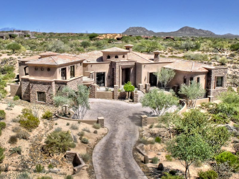 Single Family Home for Sale at Absolutely Magnificent Custom Home in the Heart of Mirabel 37475 N 104th Place Scottsdale, Arizona 85262 United States