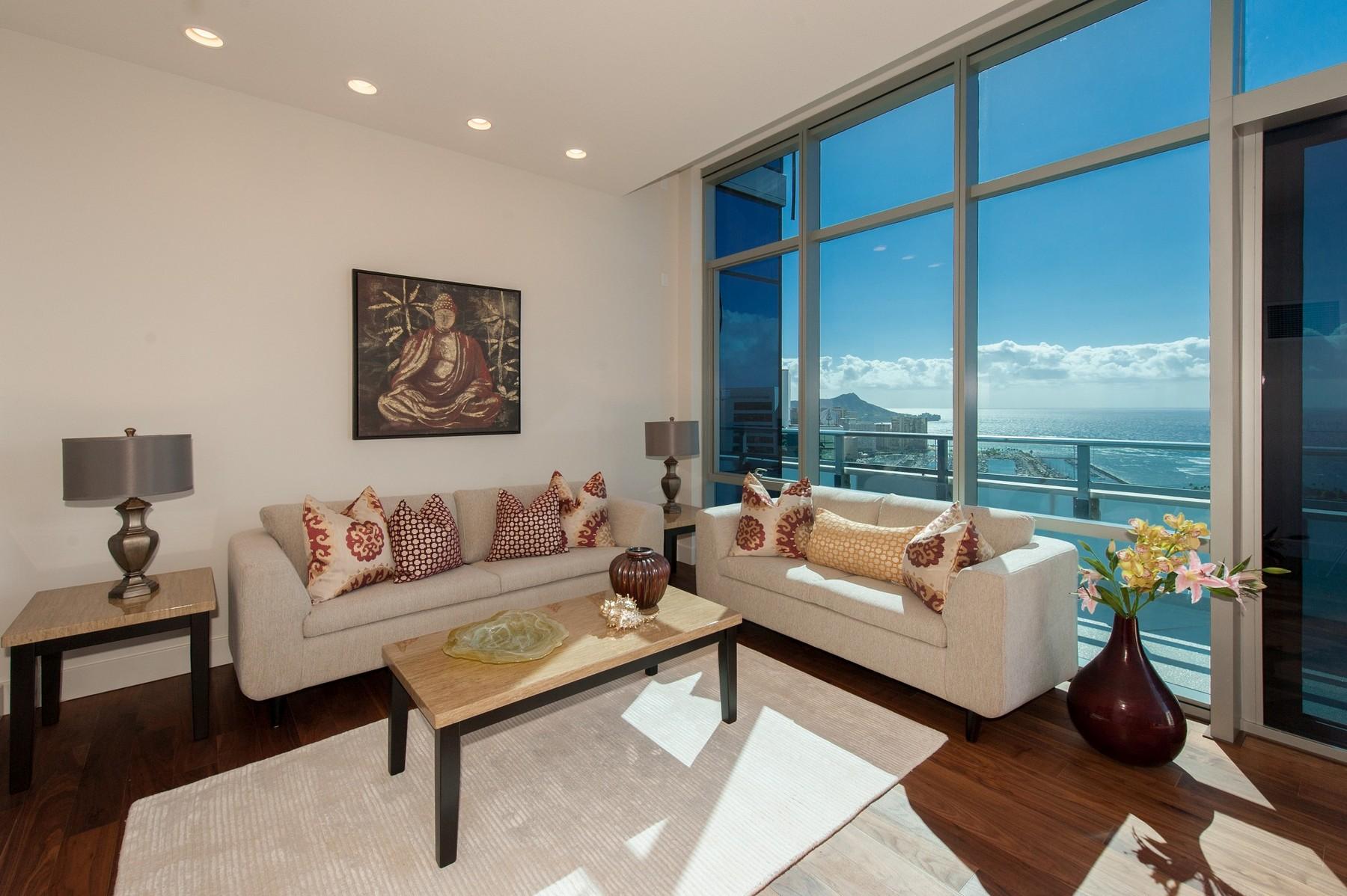 콘도미니엄 용 매매 에 Grand Penthouse in Kaka'ako 1189 Waimanu St. #4301 Kakaako, Honolulu, 하와이 96814 미국