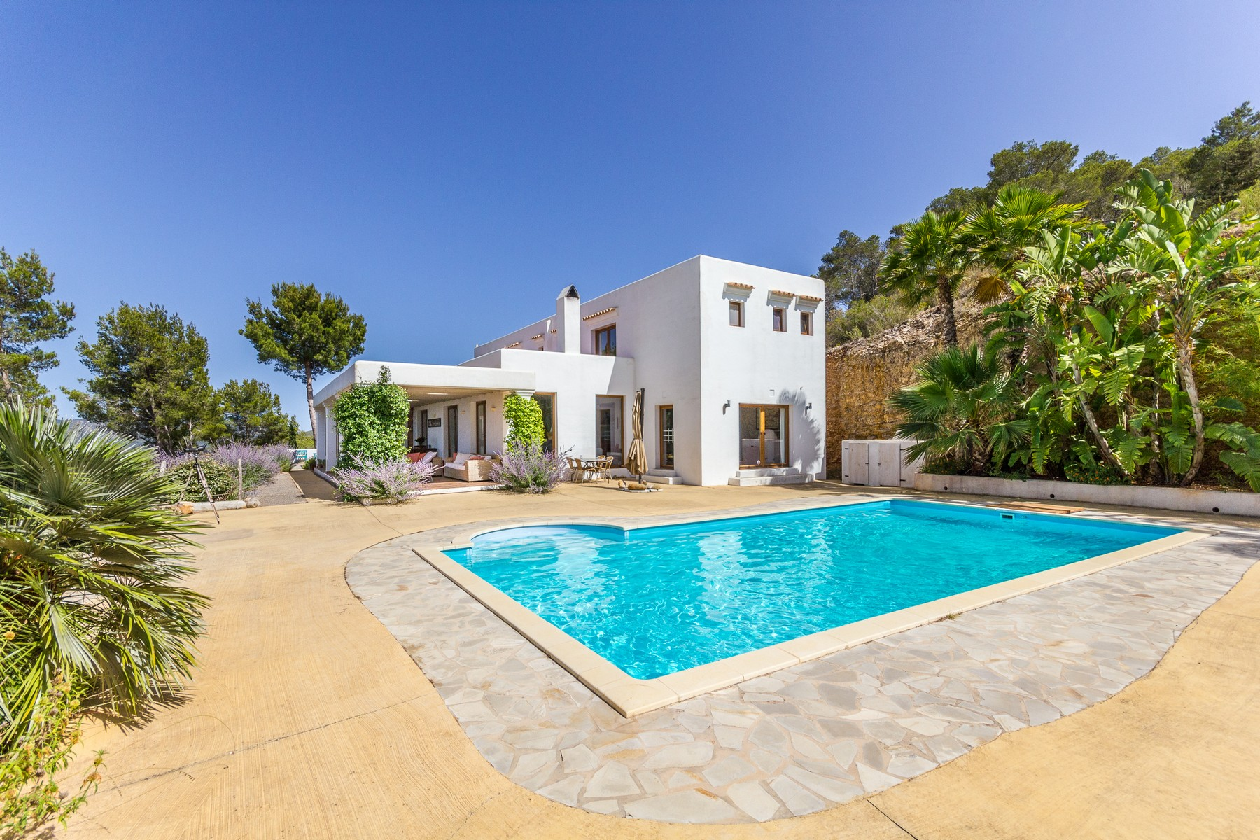 Single Family Home for Sale at Hilltop Villa with Panoramic Views in San Miguel San Juan, Ibiza 07810 Spain