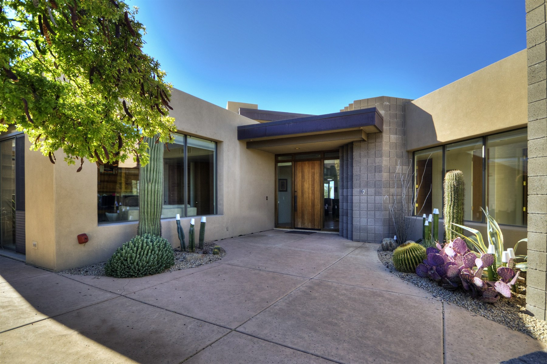 rentals property at Marvelous desert contemporary with beautiful city lights and sunset views