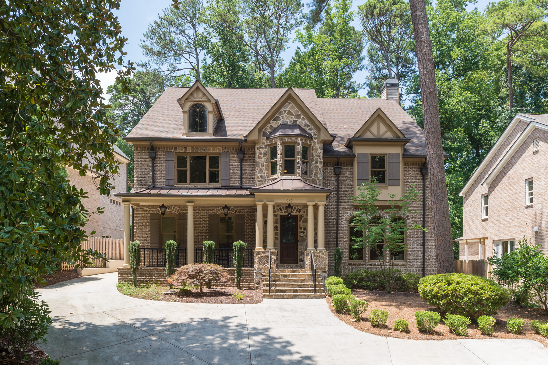 Single Family Home for Sale at Grand BuckheadSpringlake Custom Home 695 Norfleet Road NW Springlake, Atlanta, Georgia, 30305 United States
