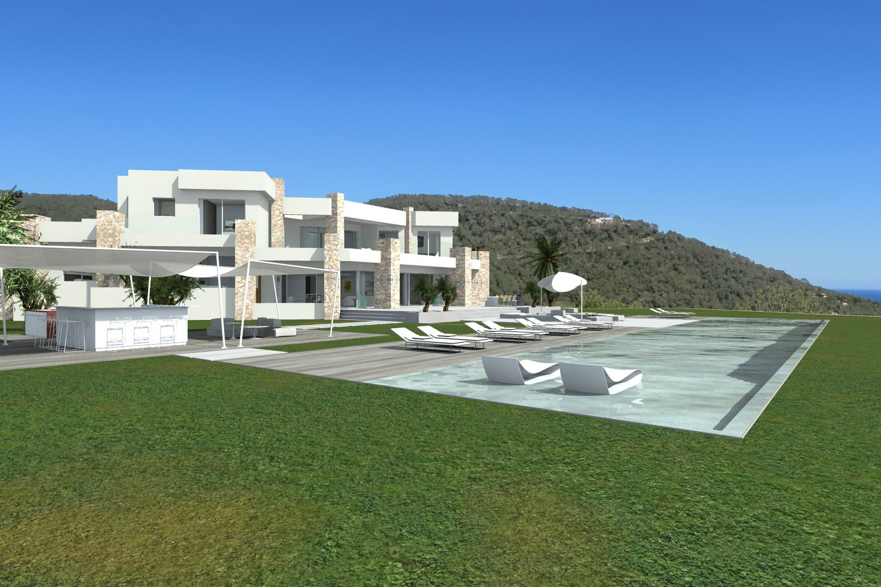 Single Family Home for Sale at Hilltop Villa With Panoramic Sea Views Sant Josep, Ibiza, 07830 Spain