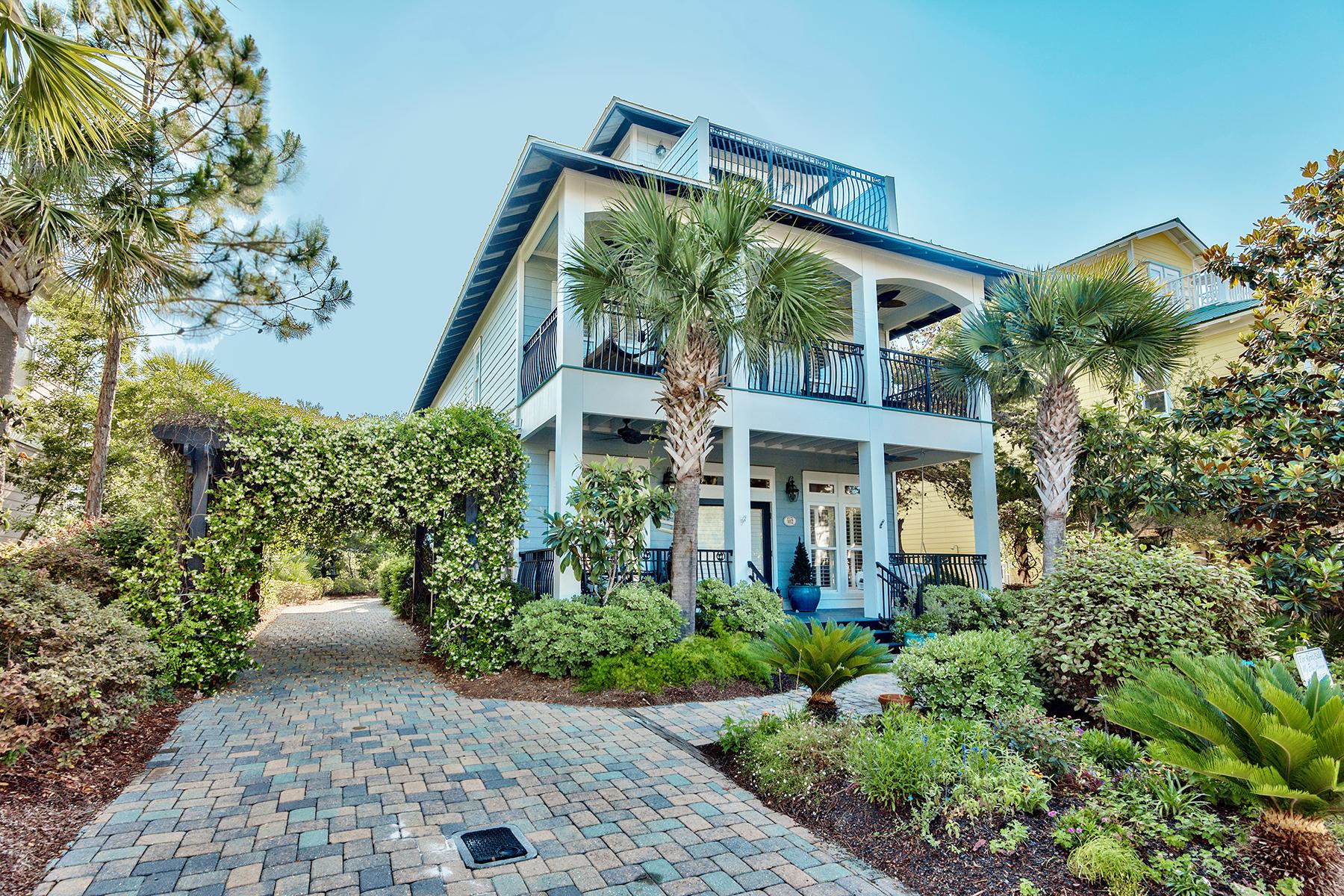 Maison unifamiliale pour l Vente à STUNNING CUSTOM HOME ON LARGE LOT IN EXCLUSIVE SEACREST BEACH 102 West Blue Crab Loop Seacrest Beach, Seacrest, Florida, 32461 États-Unis