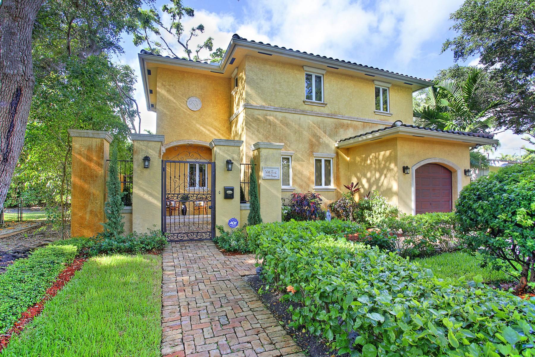 Casa para uma família para Venda às Coral Gables Riviera 430 Perugia Ave Coral Gables, Florida 33146 Estados Unidos
