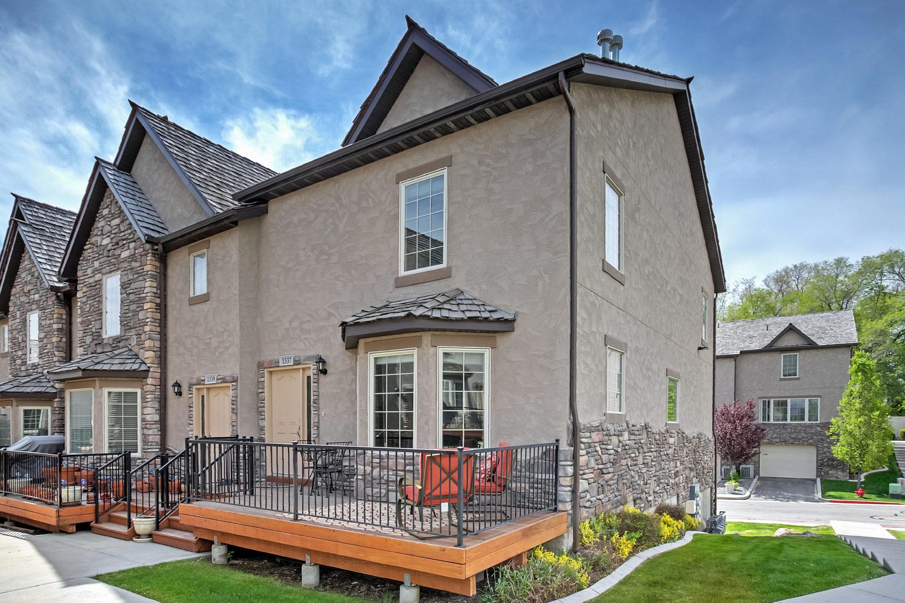联栋屋 为 销售 在 Beautiful Holladay Townhouse 1337 Lake Springs Ln 霍拉迪, 犹他州, 84117 美国