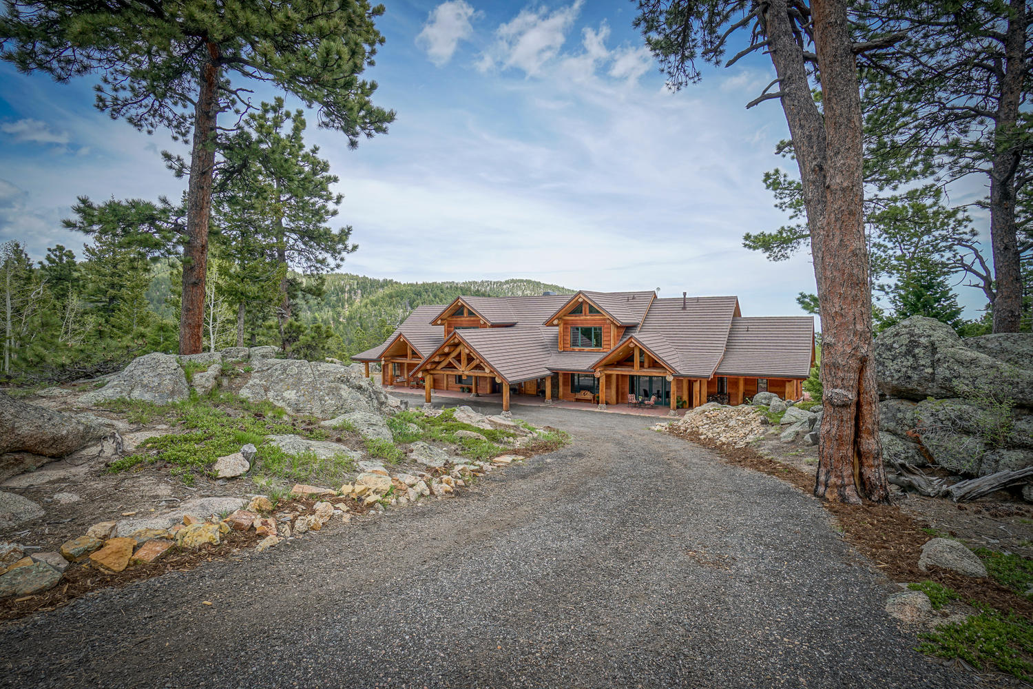 sales property at Custom Built Log Masterpiece