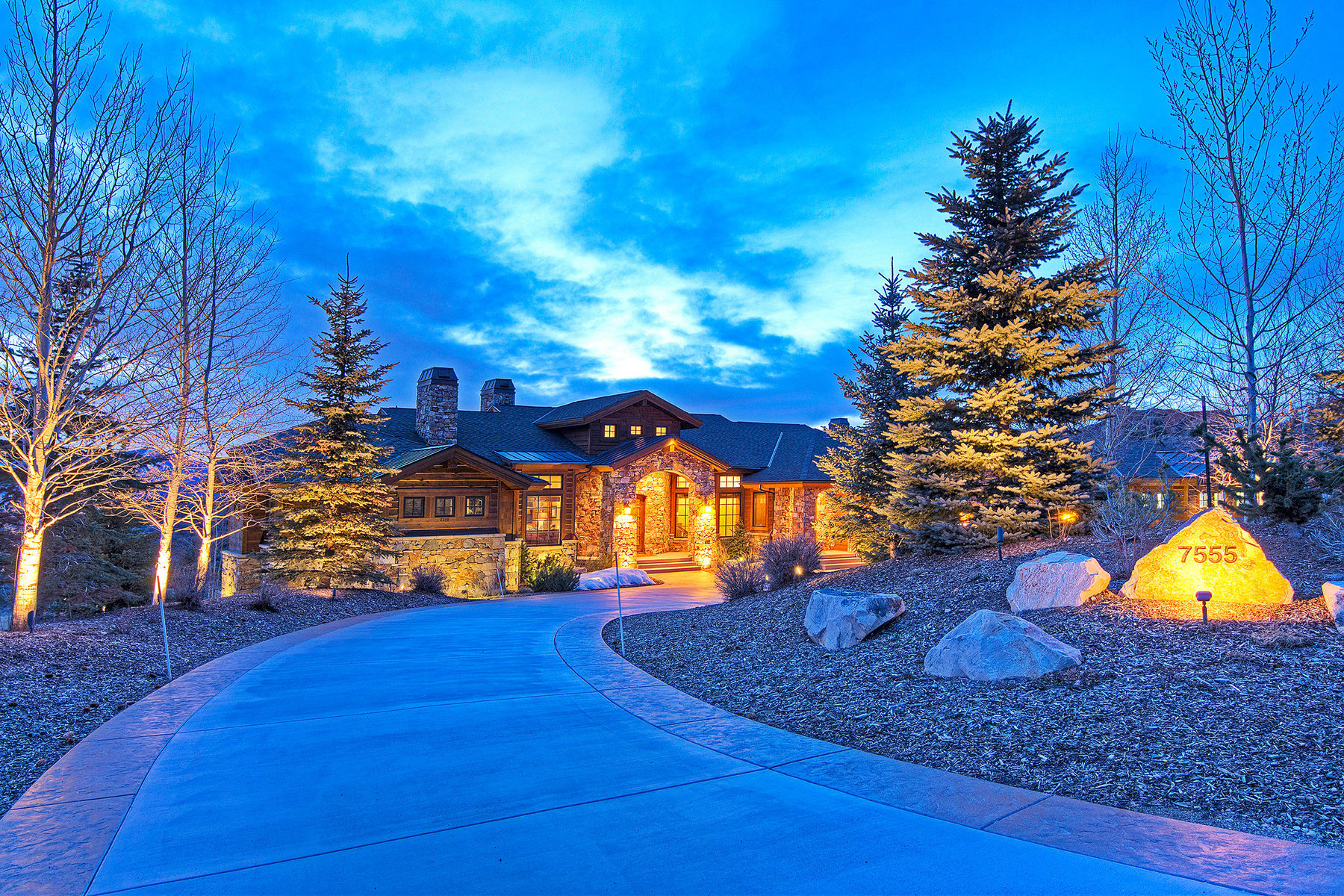 Casa Unifamiliar por un Venta en Stunning Promontory Mountain Home With Golf & Ski Resort Views 7555 N. Ranch Club Trail Lot 23 Park City, Utah 84098 Estados Unidos