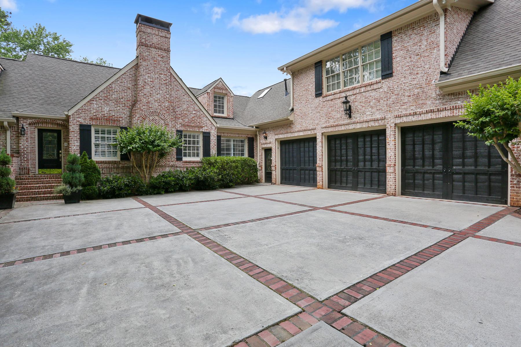 Single Family Home for Sale at Stunning Brick Home 3930 Peachtree Dunwoody Road NE North Buckhead, Atlanta, Georgia 30342 United States