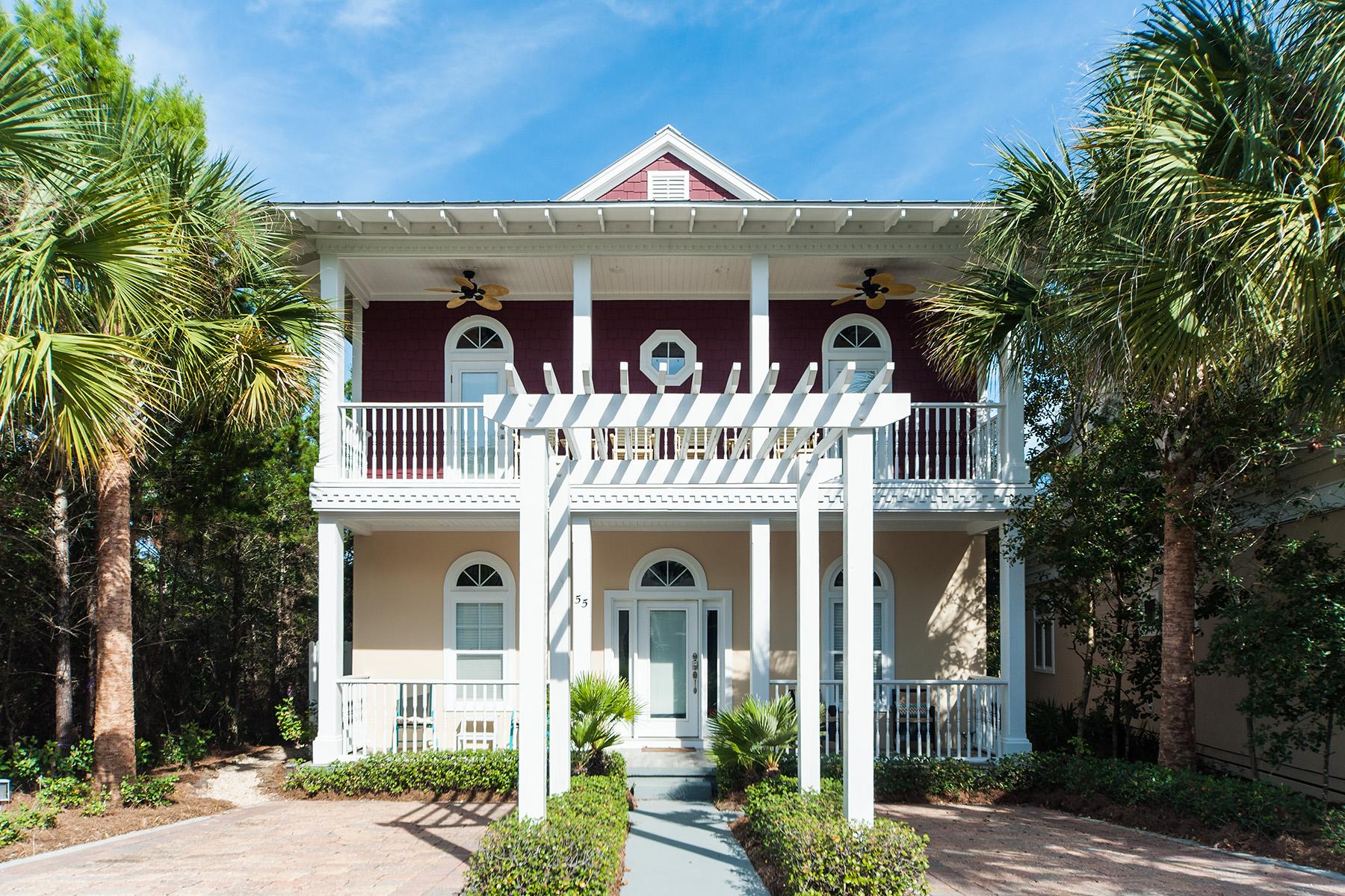 Maison unifamiliale pour l Vente à COASTAL SOUTHERN CHARM IN SEACREST BEACH 55 Greenway Loop Seacrest Beach, Seacrest, Florida, 32461 États-Unis