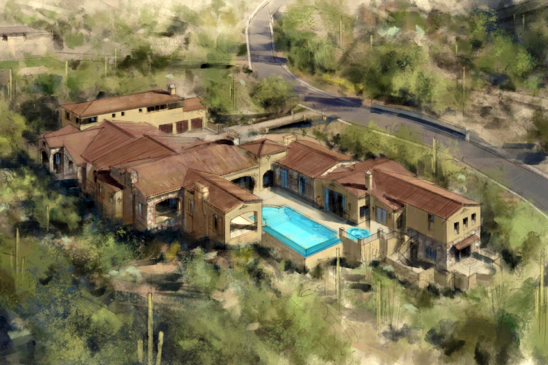 Maison unifamiliale pour l Vente à Stunning Silverleaf Luxury New Build With Valley Views 11004 E Feathersong Lane Scottsdale, Arizona 85255 États-Unis