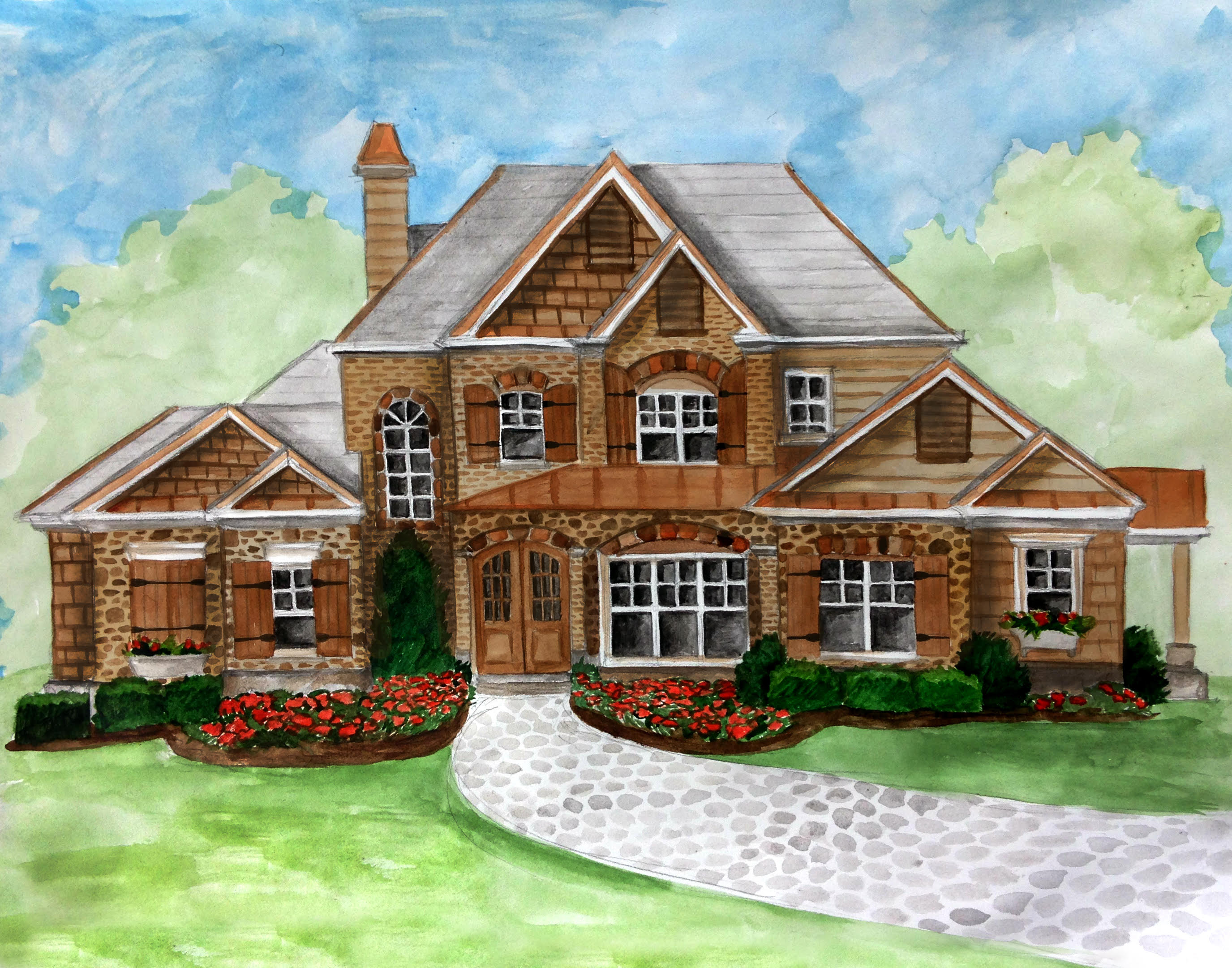 一戸建て のために 売買 アット New Custom Build in Sandy Springs 6605 Cherry Tree Lane Atlanta, ジョージア 30328 アメリカ合衆国