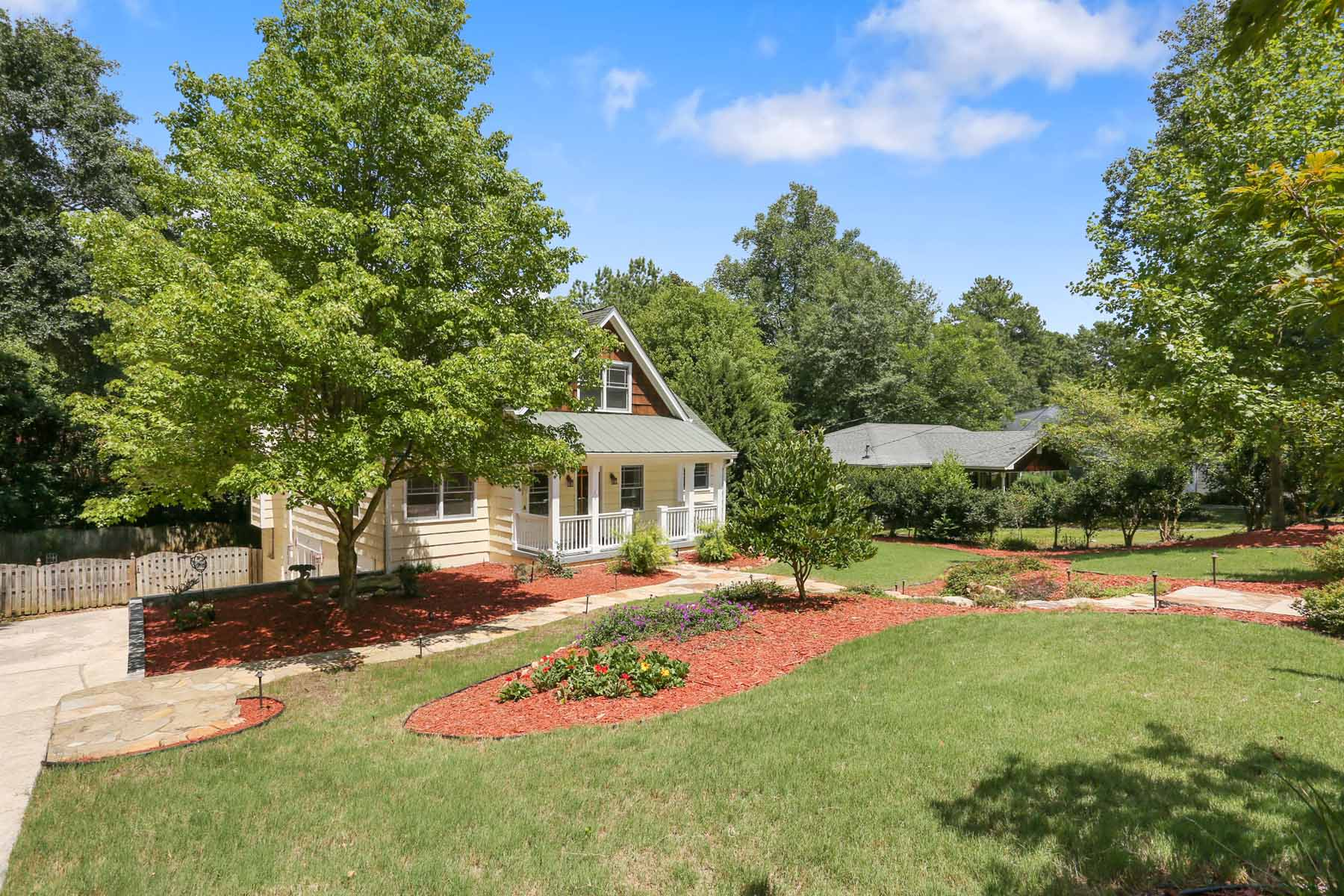 Single Family Home for Sale at Large Garden Hills Cape Cod surrounded by park like grounds. 411 Springdale Drive NE Garden Hills, Atlanta, Georgia 30305 United States