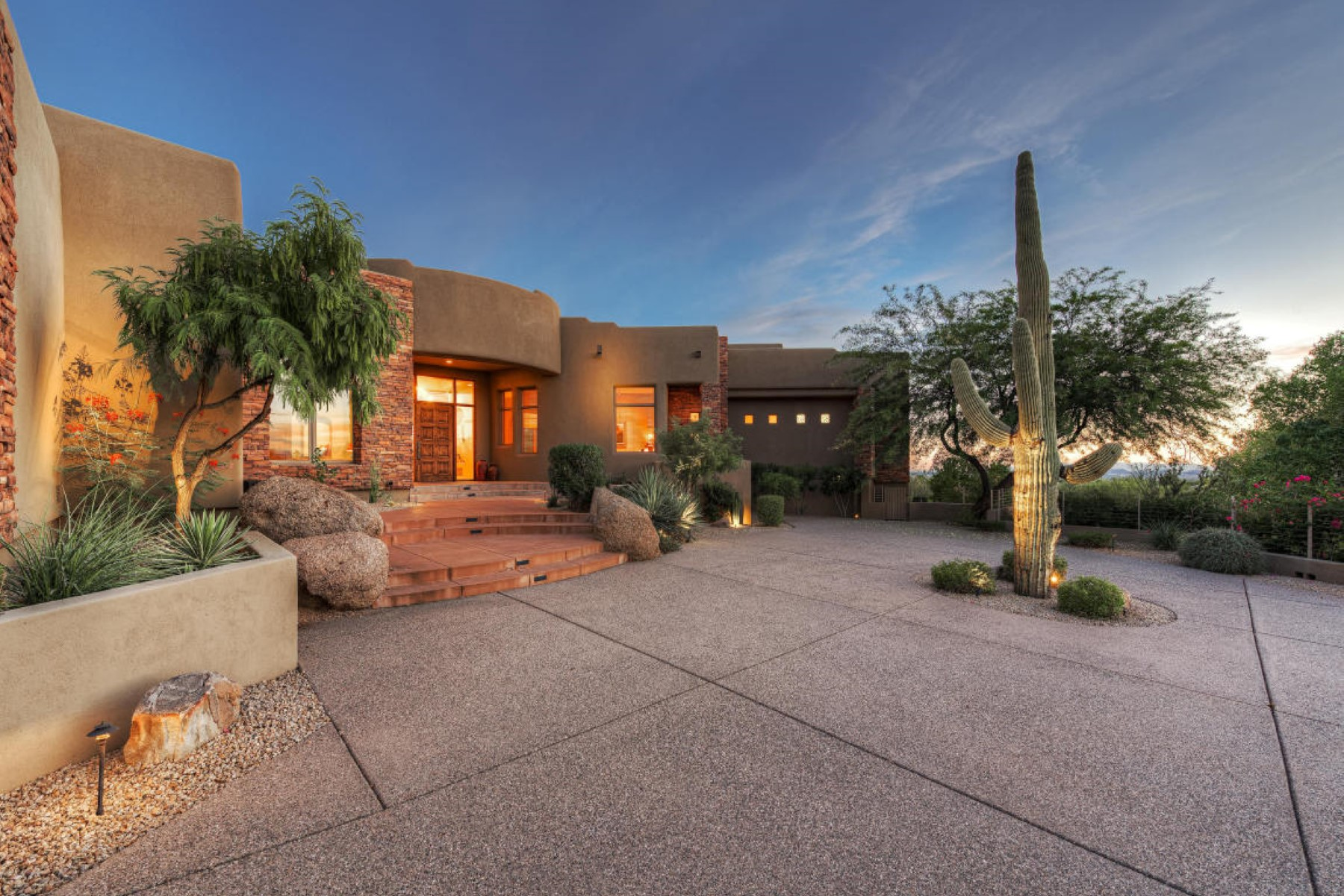 Property For Sale at home commands panoramic views of Pinnacle Peak.
