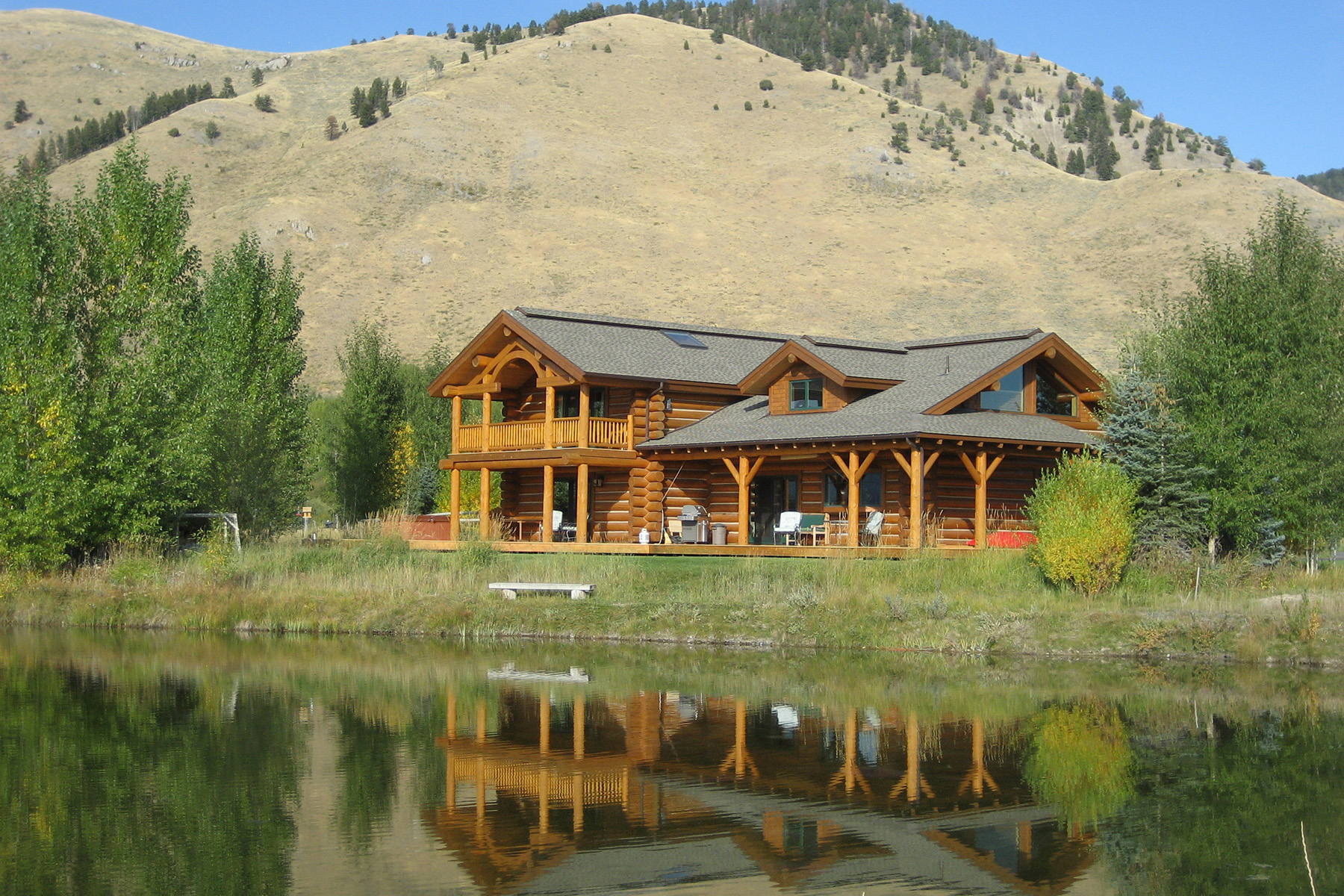 sales property at Stunning Custom Log Home on the Water