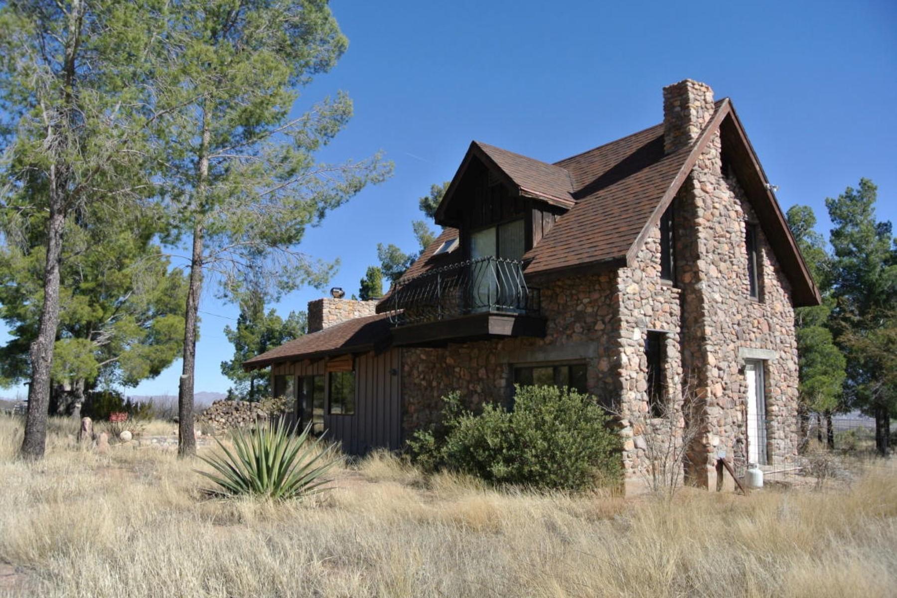 단독 가정 주택 용 매매 에 Rustic residence with spectacular scenery 729 W Lone Pine Trail Portal, 아리조나, 85632 미국