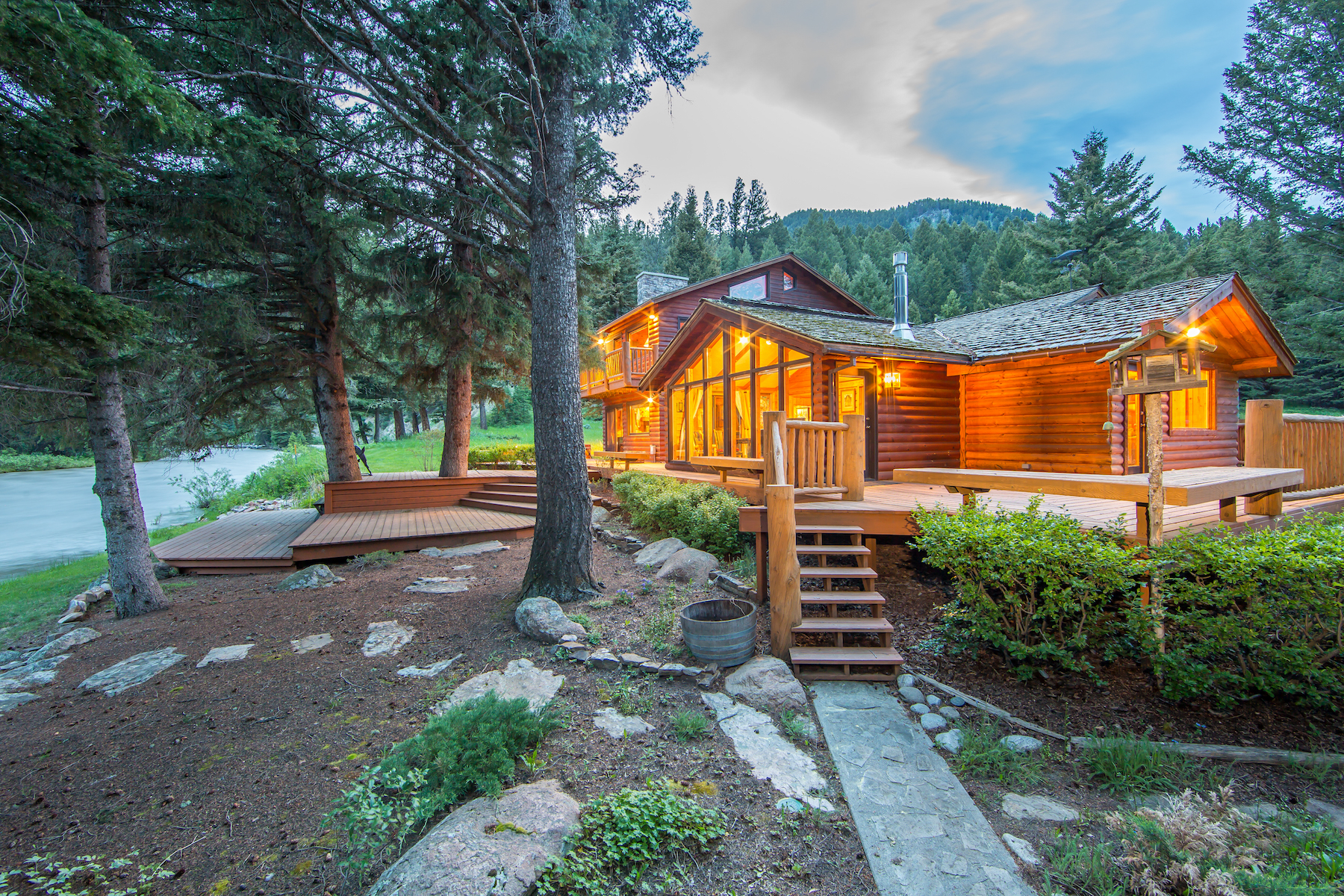 Single Family Home for Sale at Gallatin Canyon Cabin 50365 Gallatin Road Big Sky, Montana, 59716 United States