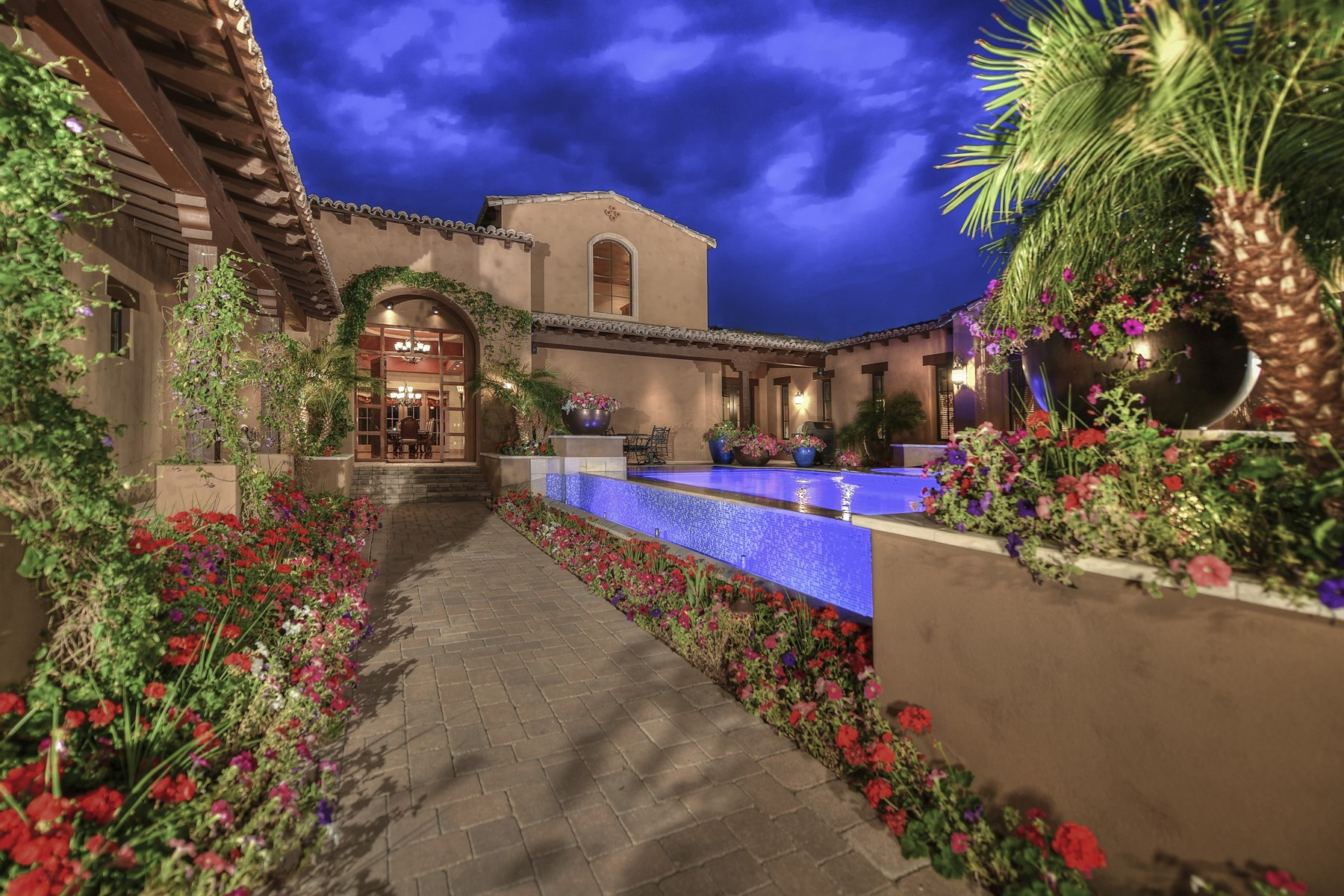 Single Family Home for Sale at Enchanting Spanish-inspired architecture home 7315 E Lower Wash Pass Scottsdale, Arizona, 85266 United States