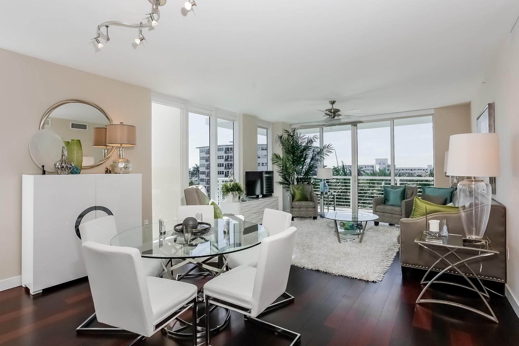 共管式独立产权公寓 为 销售 在 2821 N Ocean Blvd #407S 劳德代尔堡, 佛罗里达州 33308 美国