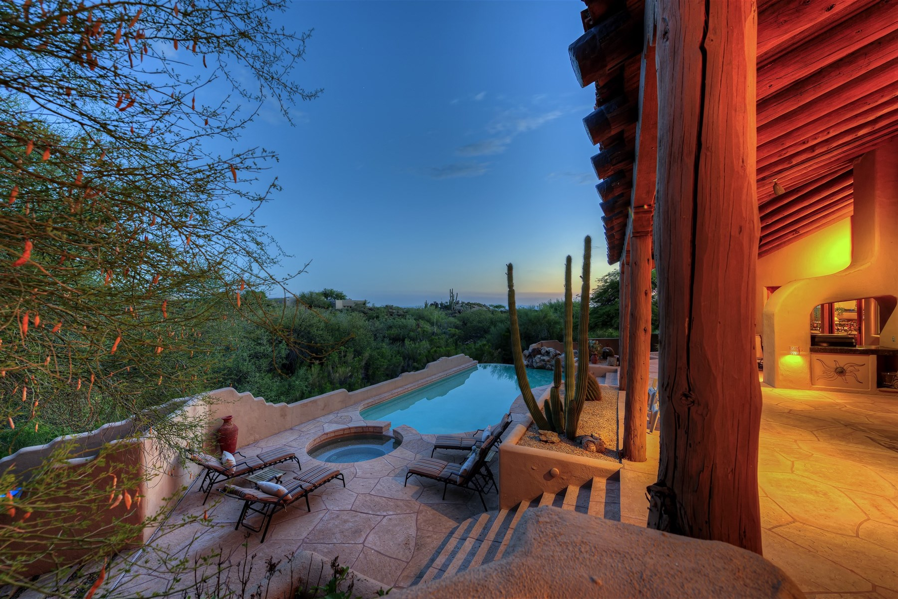 Single Family Home for Sale at True Santa Fe enriched home 41503 N 109th Pl Scottsdale, Arizona, 85262 United States
