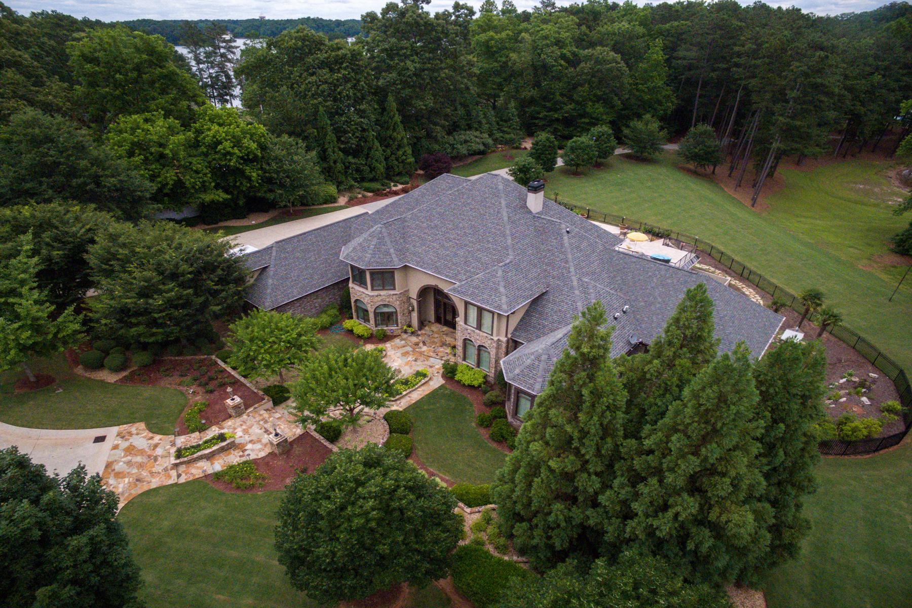 獨棟家庭住宅 為 出售 在 Magnificent Lake Front Estate 6617 Garrett Road Buford, 喬治亞州 30518 美國