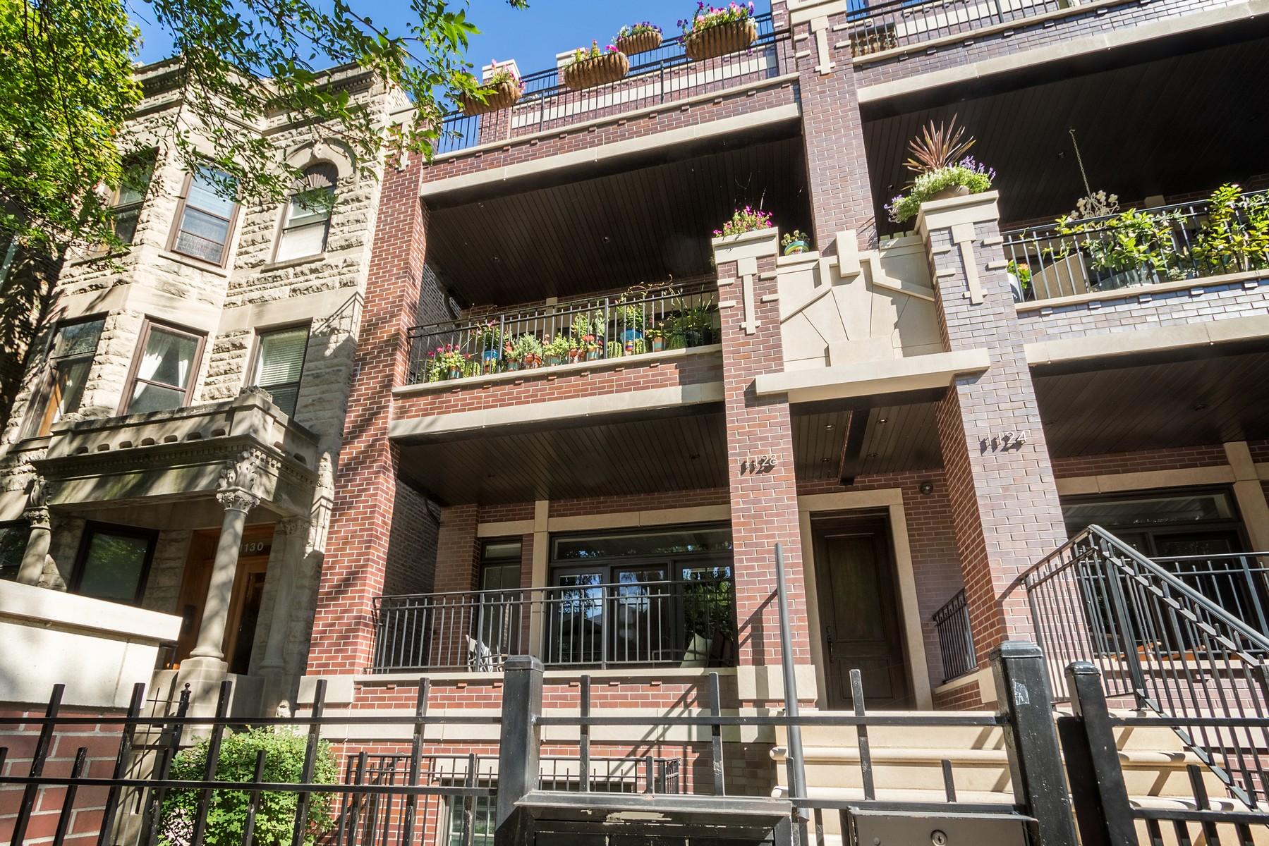 デュプレックス のために 売買 アット Spacious Duplex Down in Lincoln Park 1128 W Wrightwood Avenue Unit 1W Lincoln Park, Chicago, イリノイ, 60614 アメリカ合衆国