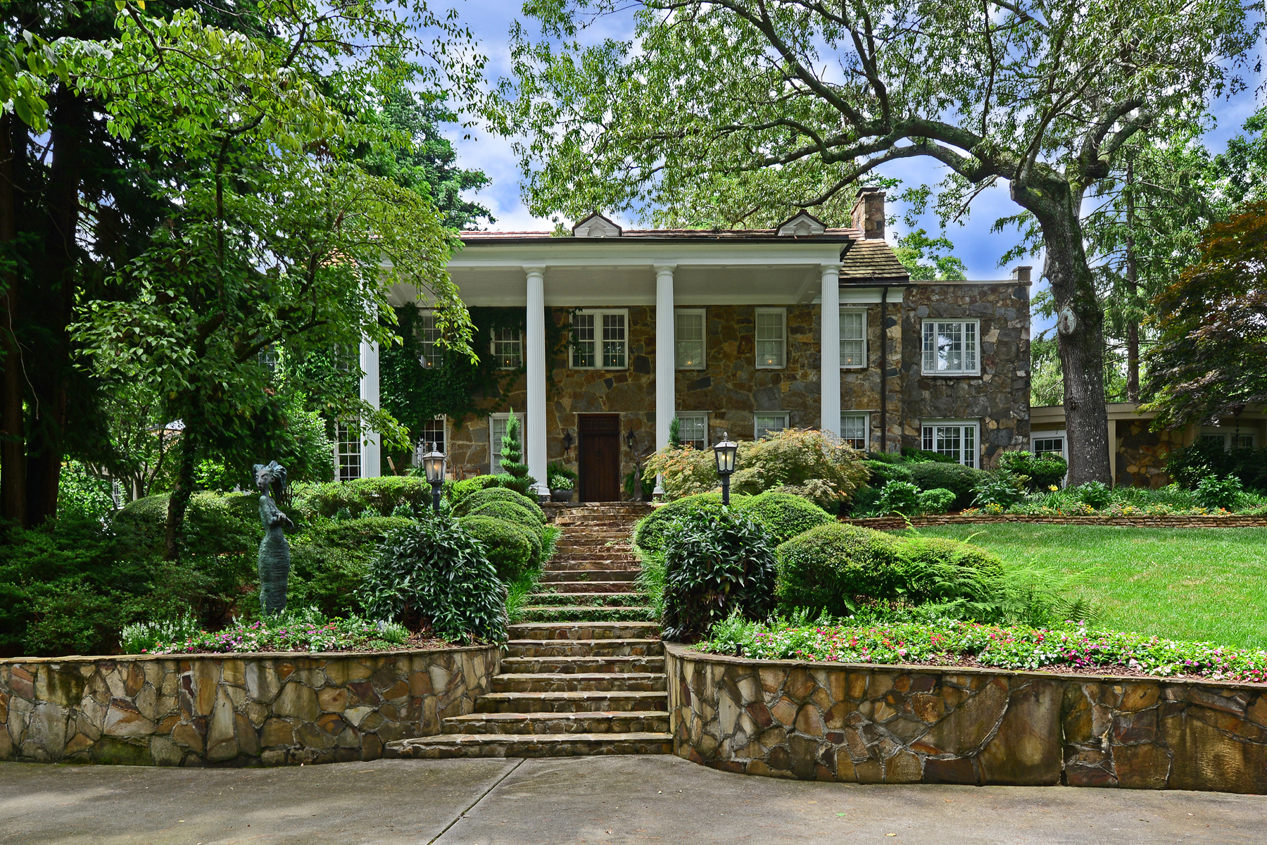 Single Family Home for Active at Custom Restoration, Award Winning Gardens 1295 Heards Ferry Road NW Sandy Springs, Georgia 30328 United States