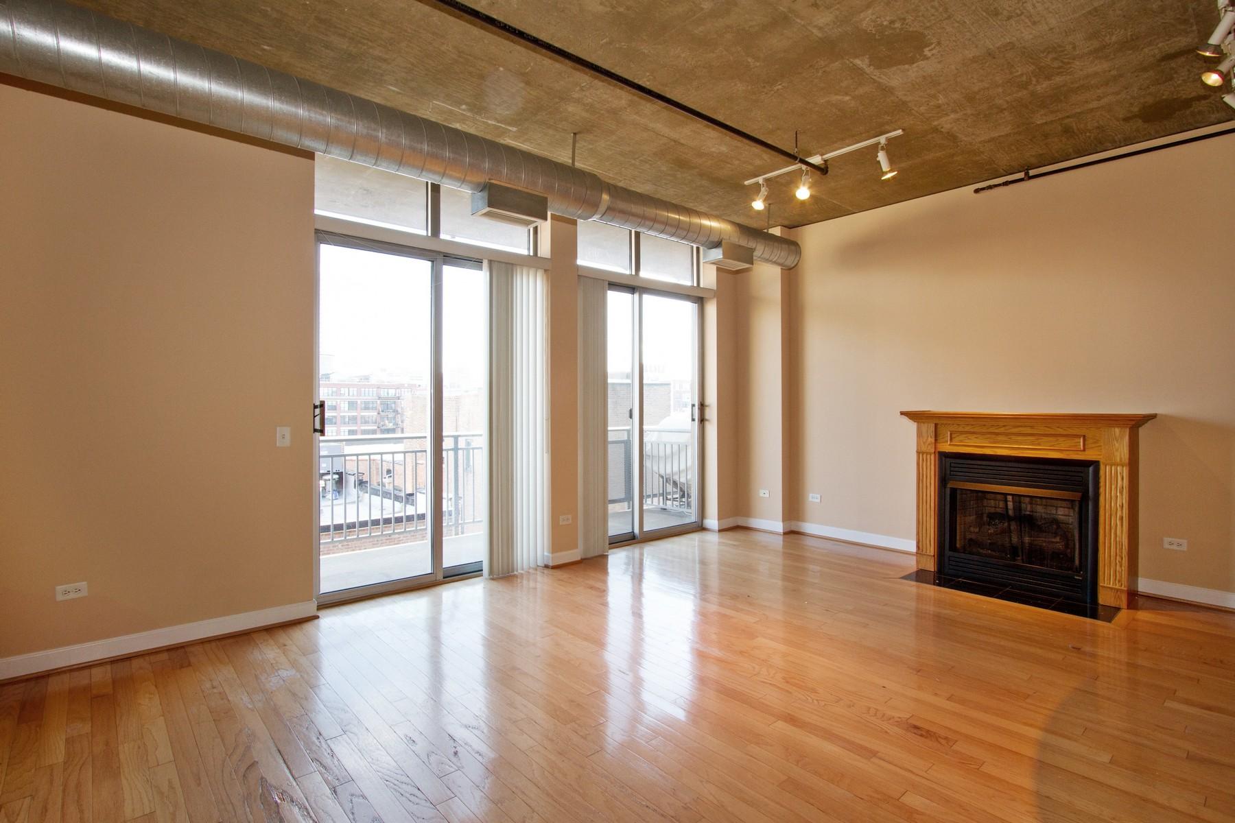 Kat Mülkiyeti için Satış at West Loop Loft 111 S Morgan Street Unit 723 Near West Side, Chicago, Illinois 60607 Amerika Birleşik Devletleri