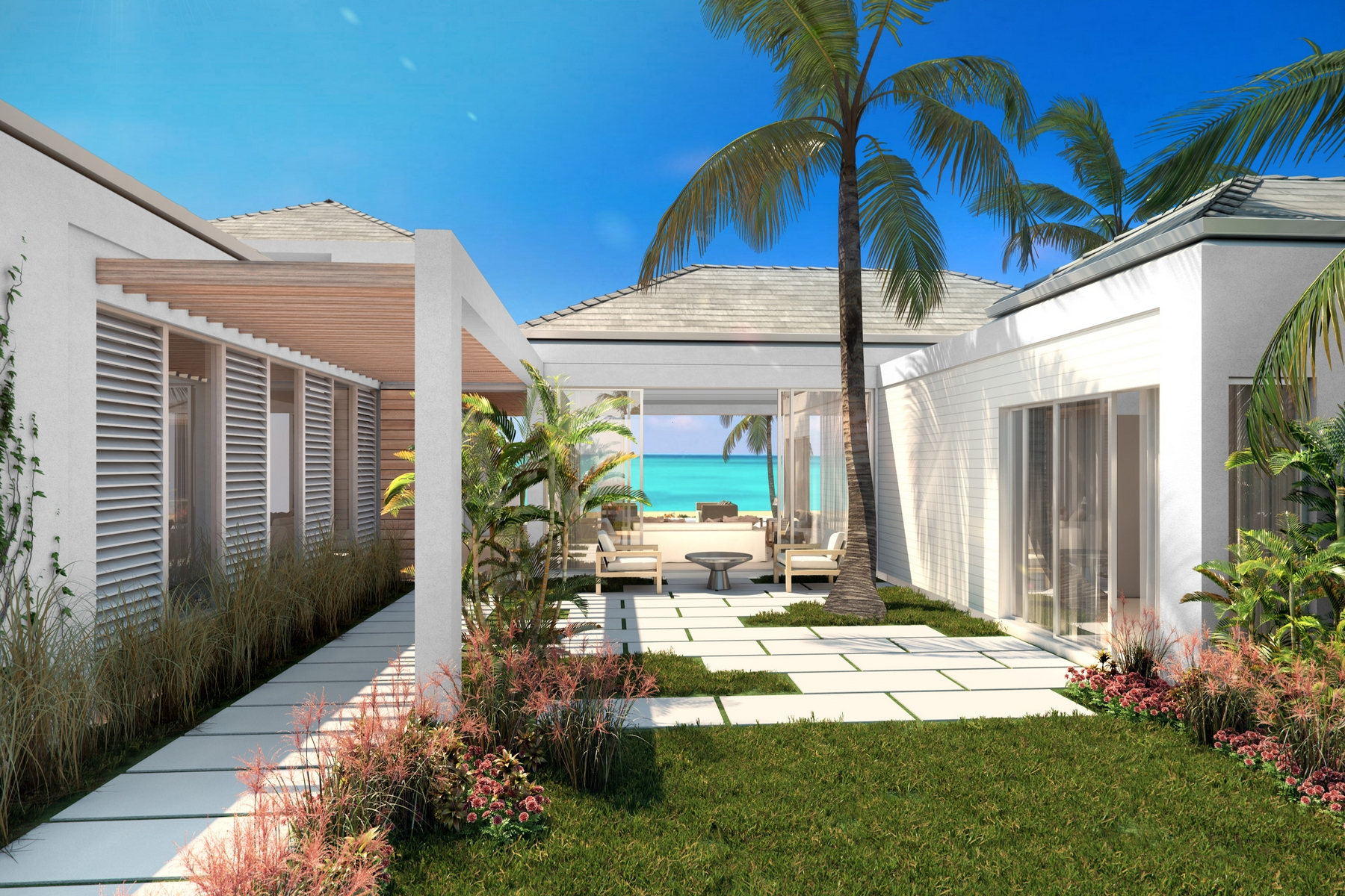 Additional photo for property listing at BEACH ENCLAVE LONG BAY - Design One 5B Beachfront Long Bay, Providenciales TCI Îles Turques Et Caïques