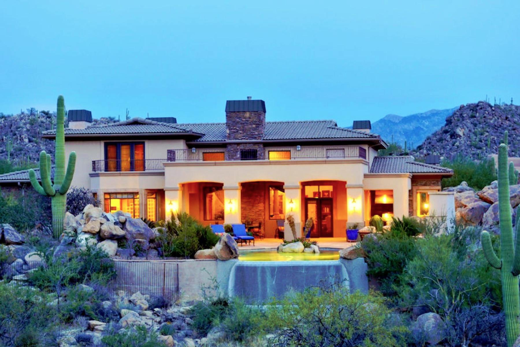 Moradia para Venda às Exquisite Mediterranean Home in th Exclusive Golf Community of Stone Canyon 1214 W Tortolita Mountain Circle Oro Valley, Arizona 85755 Estados Unidos