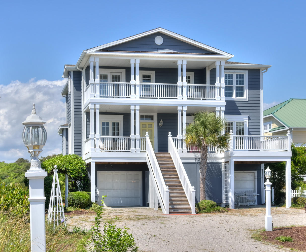 Single Family Home for Sale at Incredible ICW Island Home 112 Golden Dune Way Lot #32 Holden Beach, North Carolina, 28462 United States
