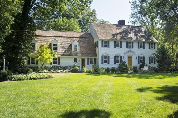 Single Family Home for Sale at Private, Serene, Expansive Colonial 225 Fairoaks Lane Cohasset, Massachusetts 02025 United States