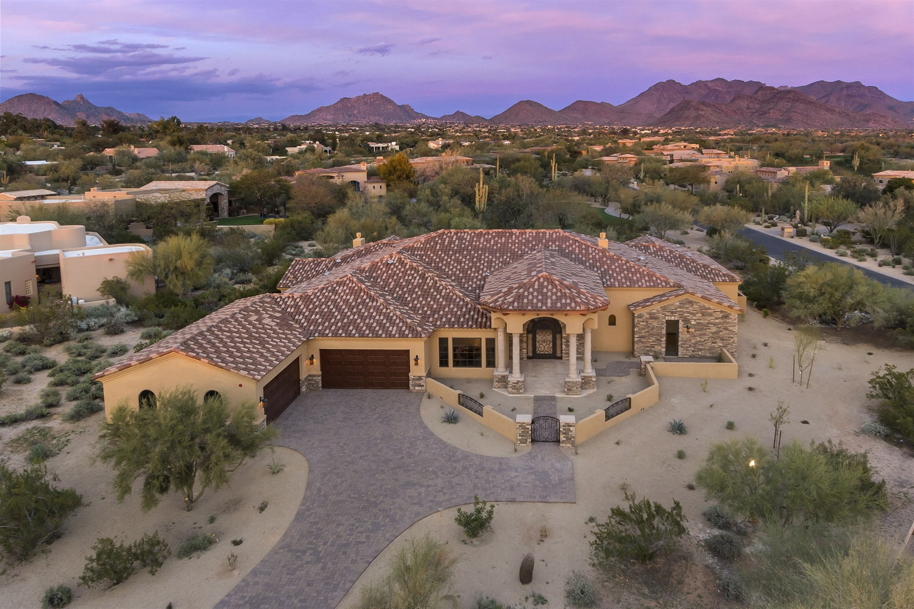 Single Family Home for Sale at Brand New Custom Home In The Private Enclave Of Serenity At Grayhawk 8118 E Fledgling Drive Scottsdale, Arizona 85255 United States