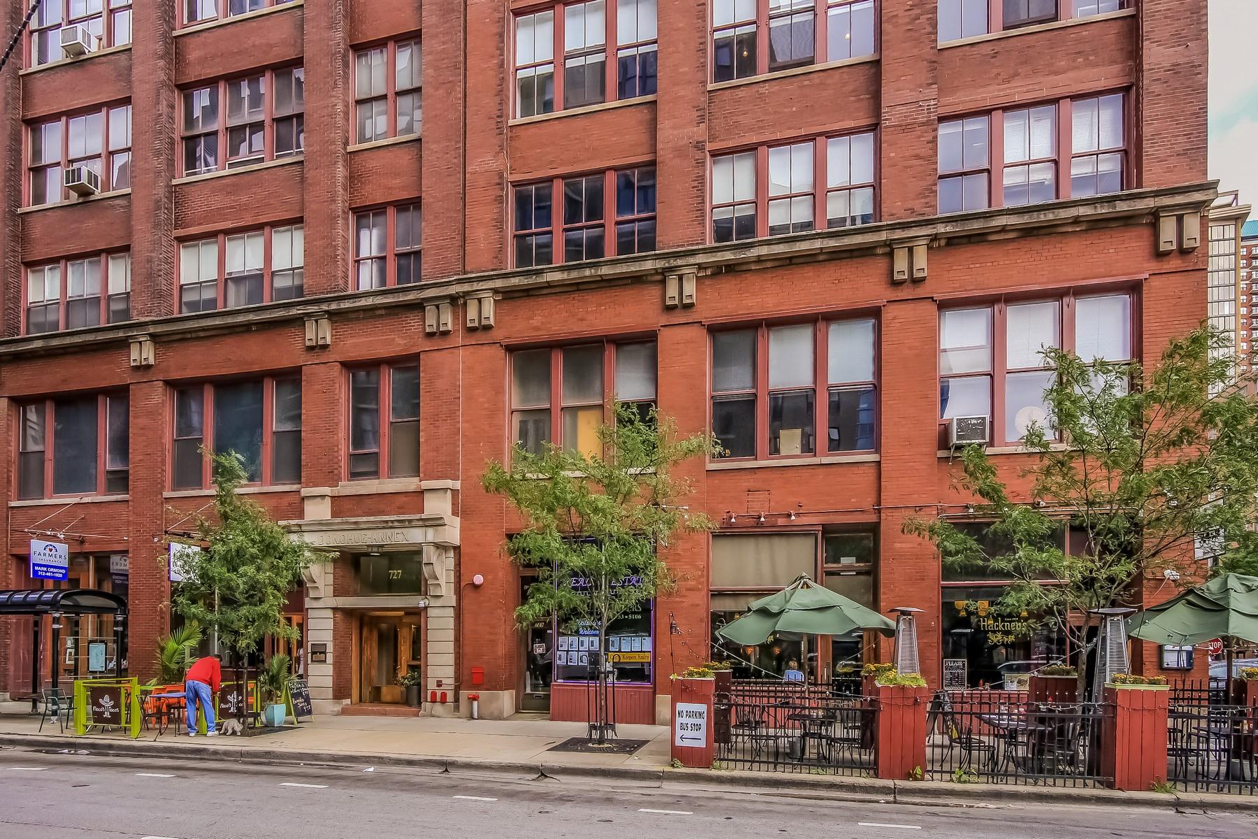 Condominium for Sale at Bright, Spacious Big True Loft In Printers Row 727 S Dearborn Street Unit 611 Loop, Chicago, Illinois 60605 United States