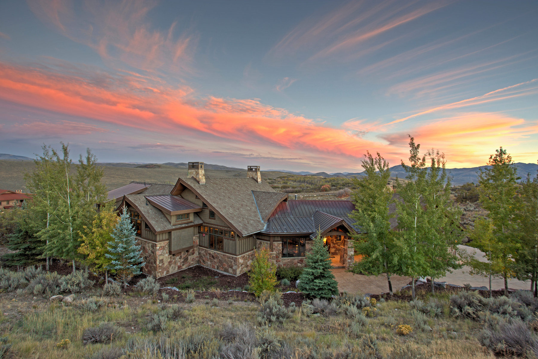 Single Family Home for Sale at Spectacular Mountain Contemporary Promontory Home 7978 N Promontory Ranch Rd Park City, Utah 84098 United States