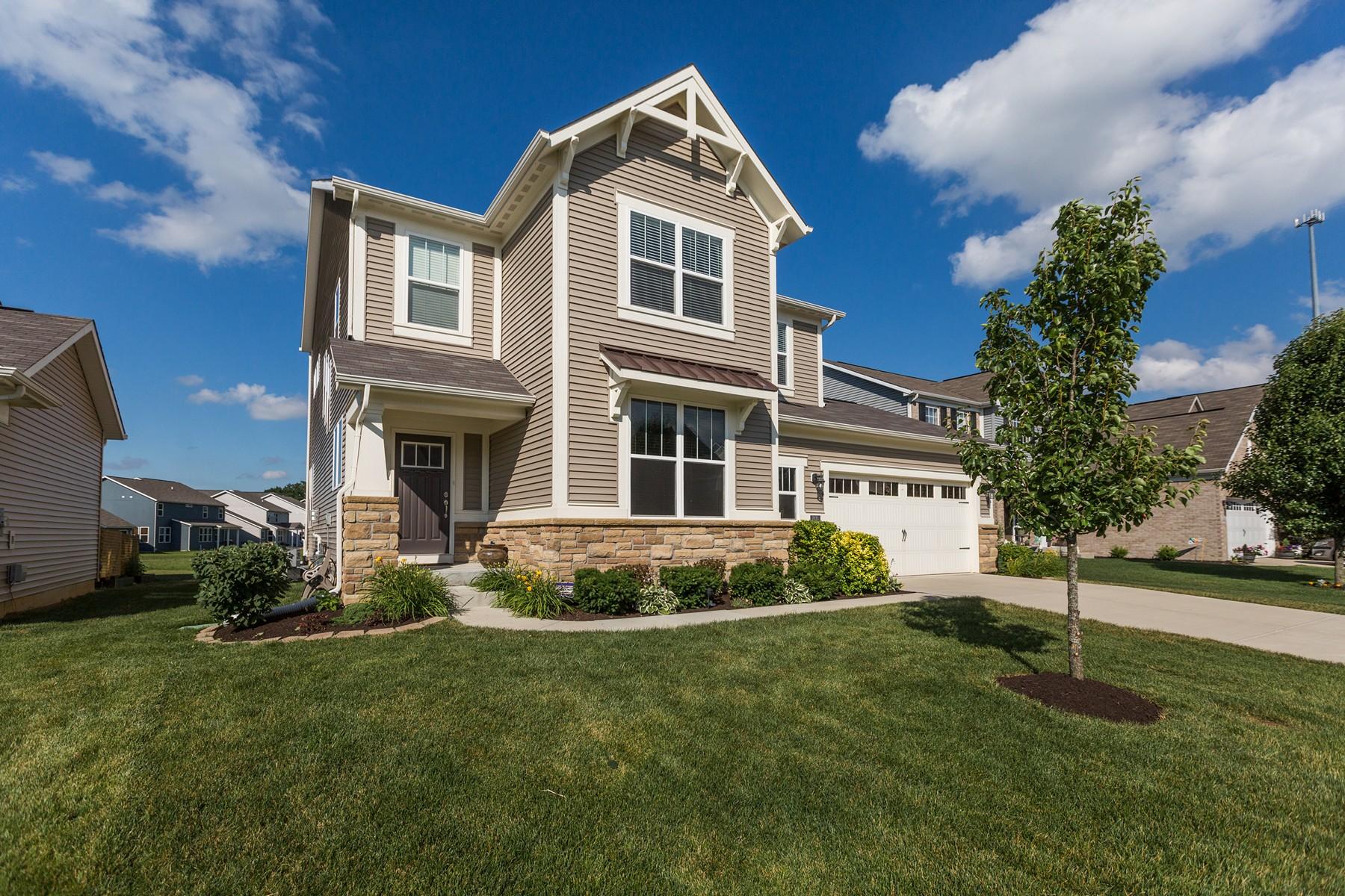 Maison unifamiliale pour l Vente à Fantastic Eagles Nest 7775 Blue Jay Way Zionsville, Indiana, 46077 États-Unis